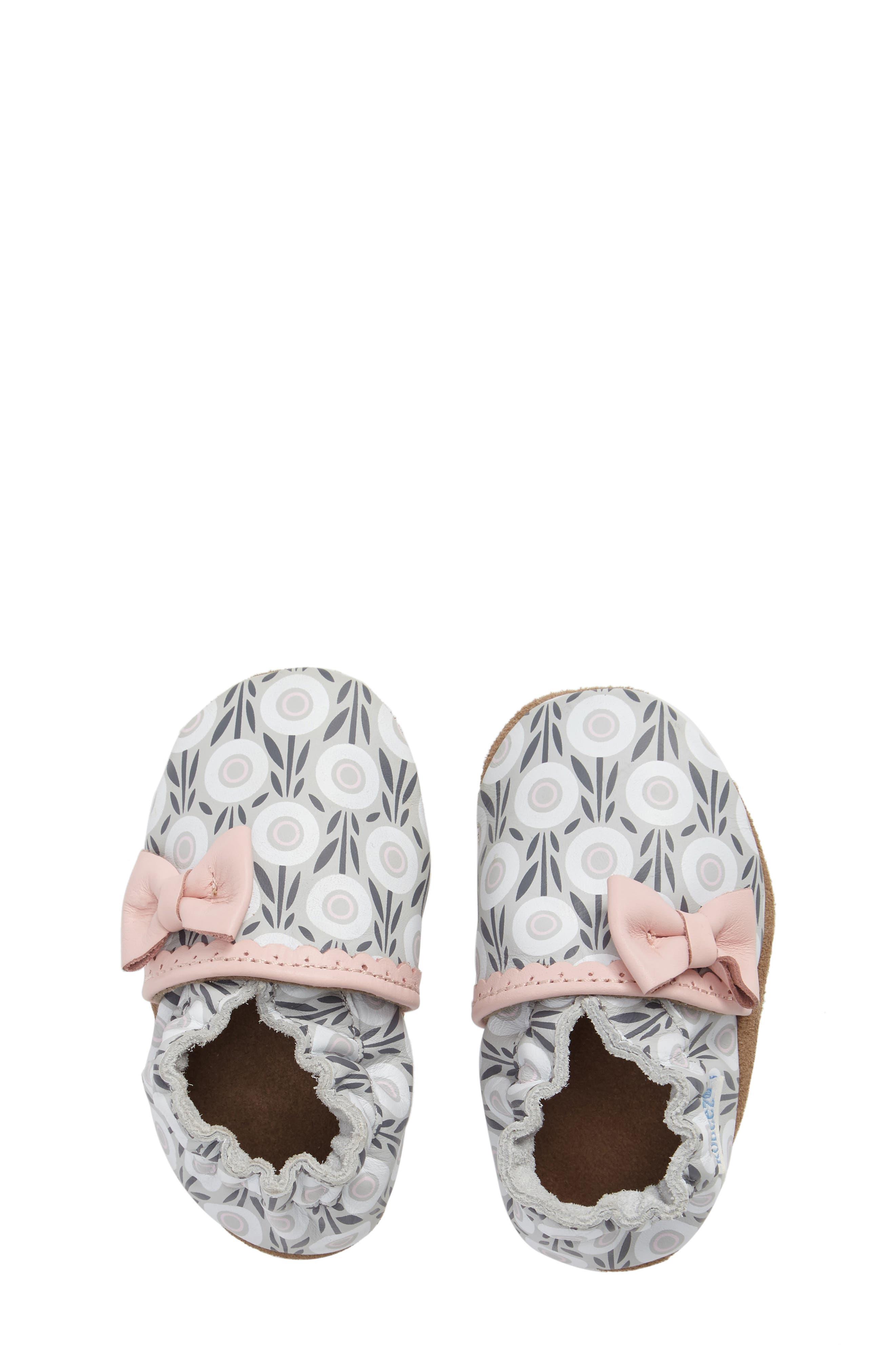 Alternate Image 5  - Robeez® Wildflowers Crib Shoe (Baby & Walker)