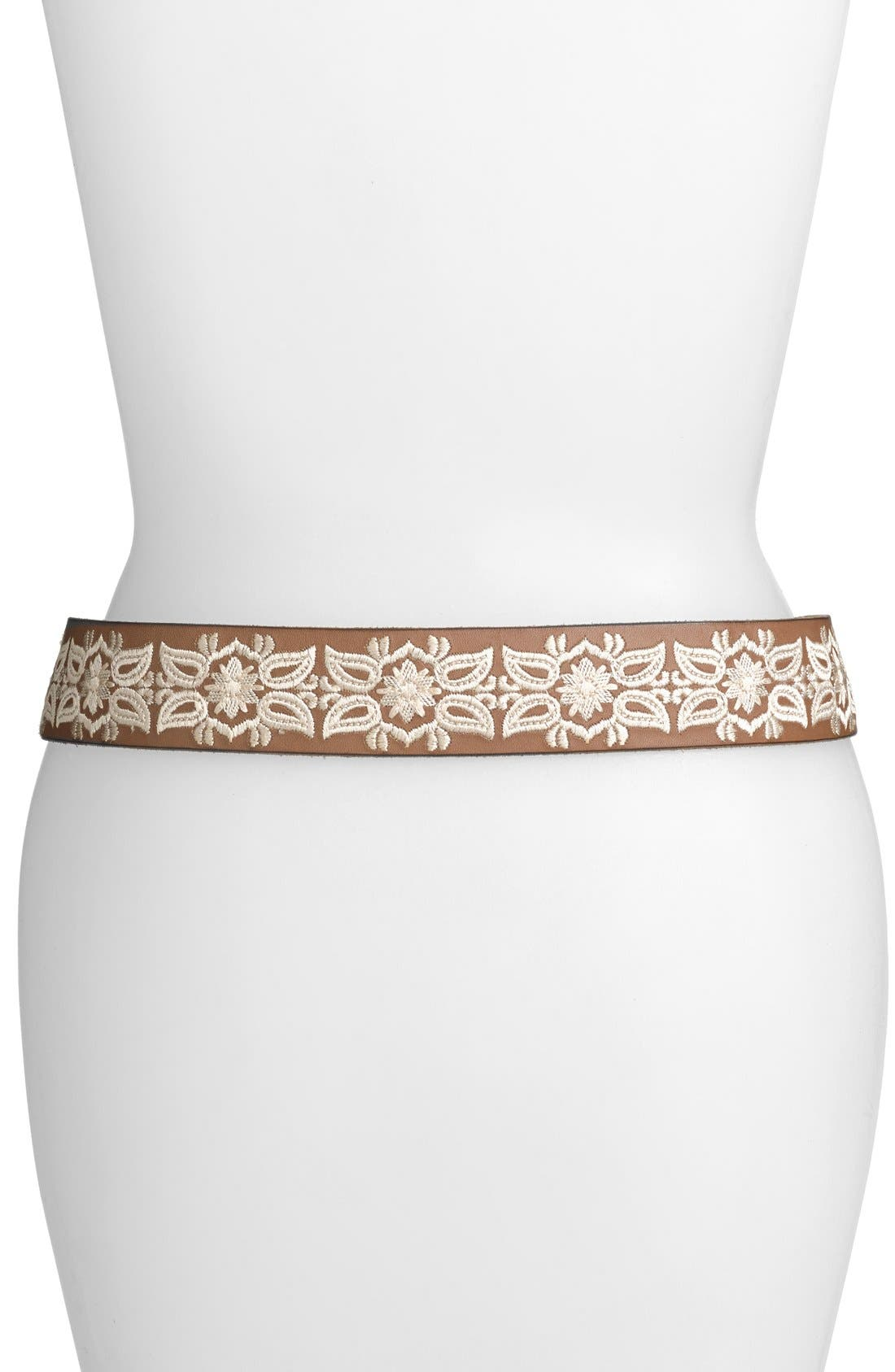Alternate Image 2  - Lucky Brand Embroidered Floral Belt
