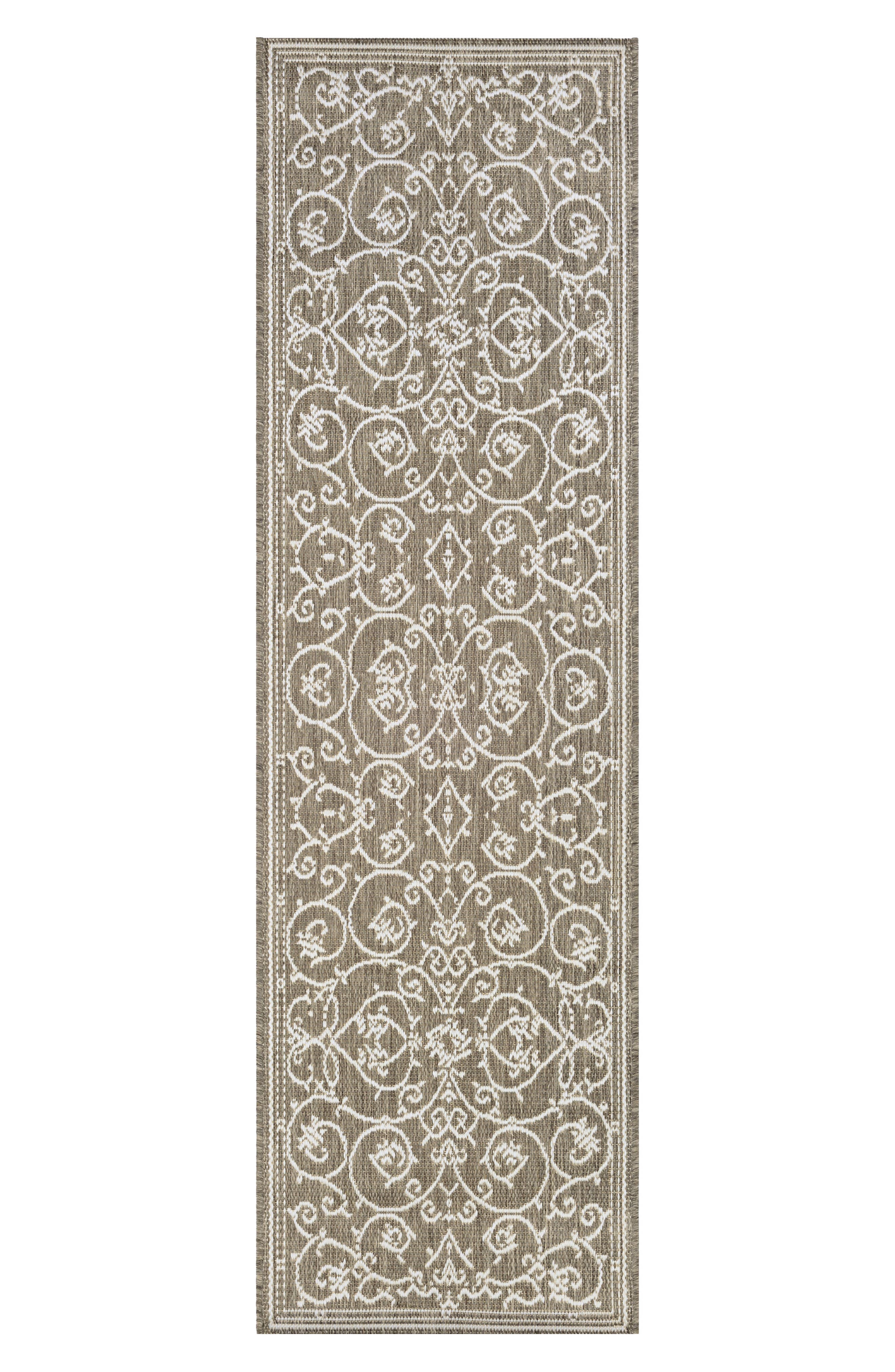 Veranda Indoor/Outdoor Rug,                             Alternate thumbnail 2, color,                             Champagne/ Taupe