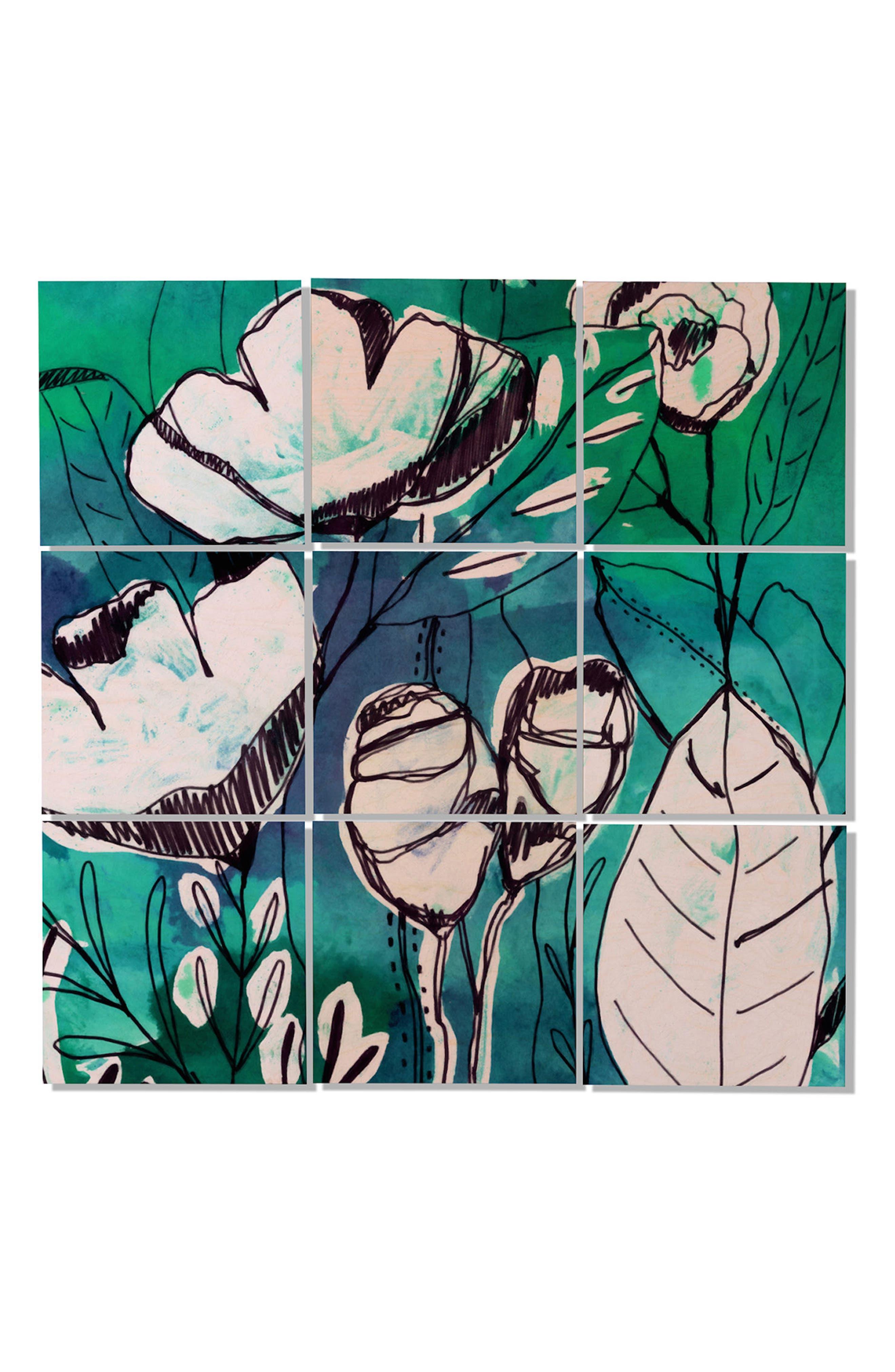 9-Piece Wood Wall Mural,                             Main thumbnail 1, color,                             Multi