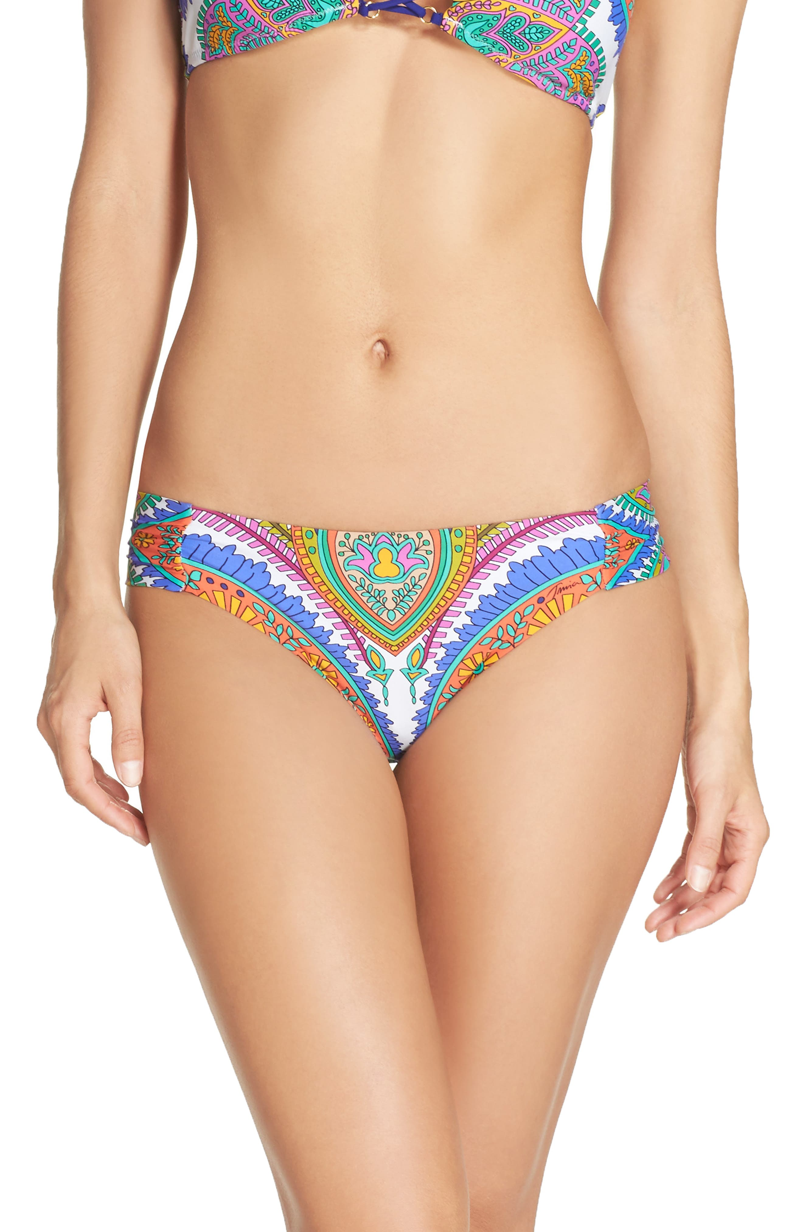 Trina Turk Side Shirred Bikini Bottoms