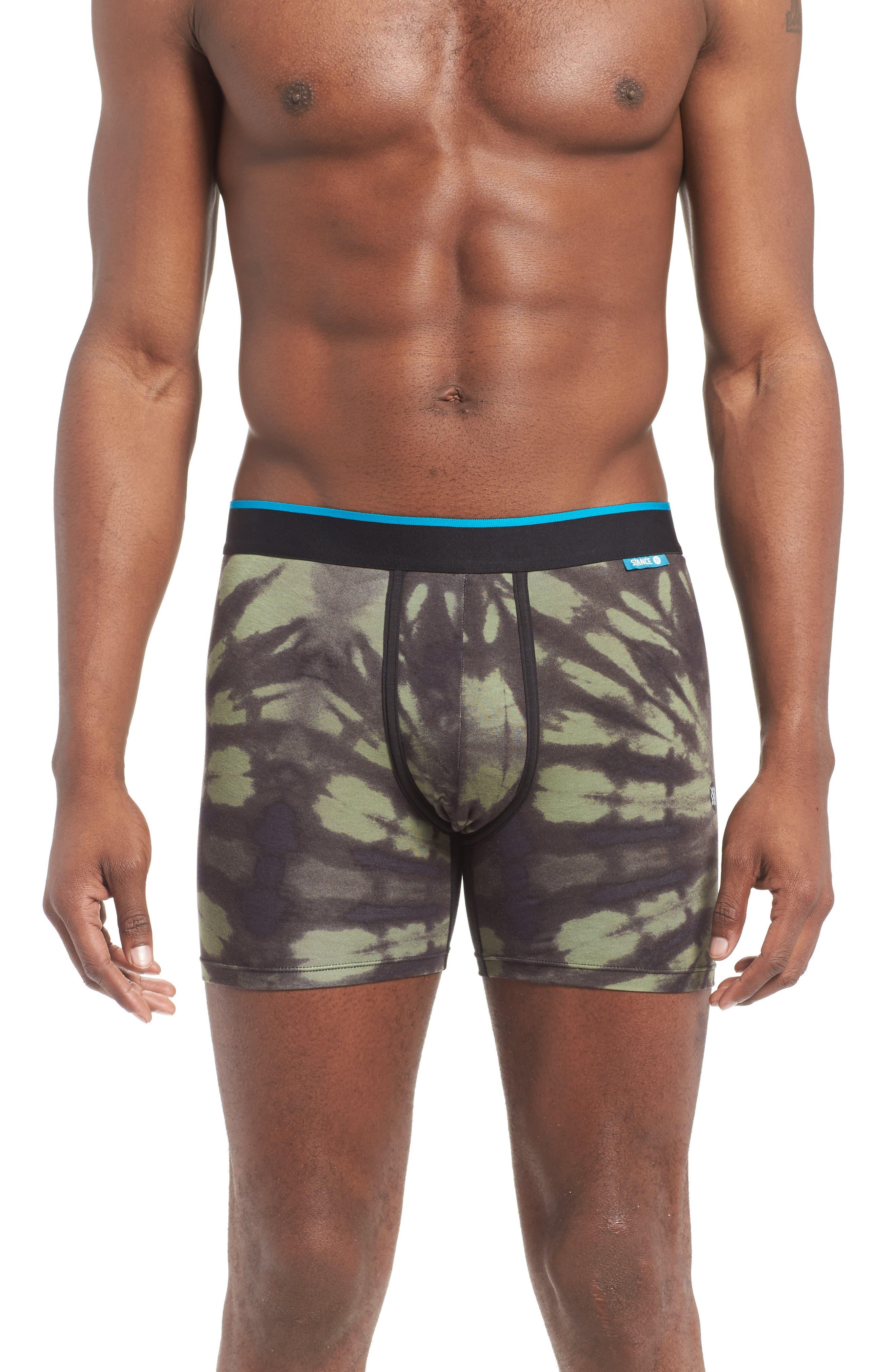 Wholester Burnout Stretch Modal Boxer Briefs,                         Main,                         color, Army