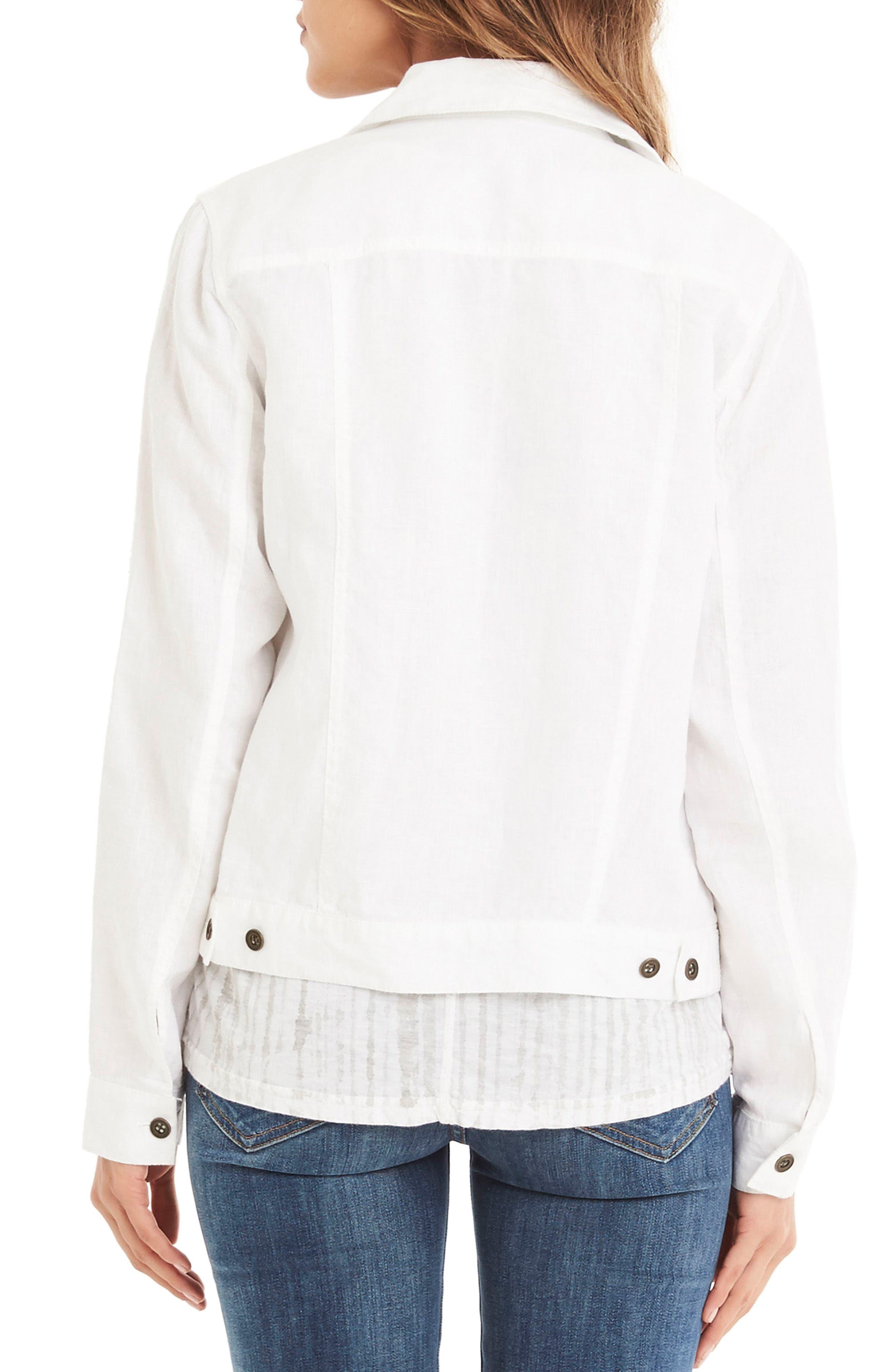 Alternate Image 2  - Michael Stars Linen Denim Jacket