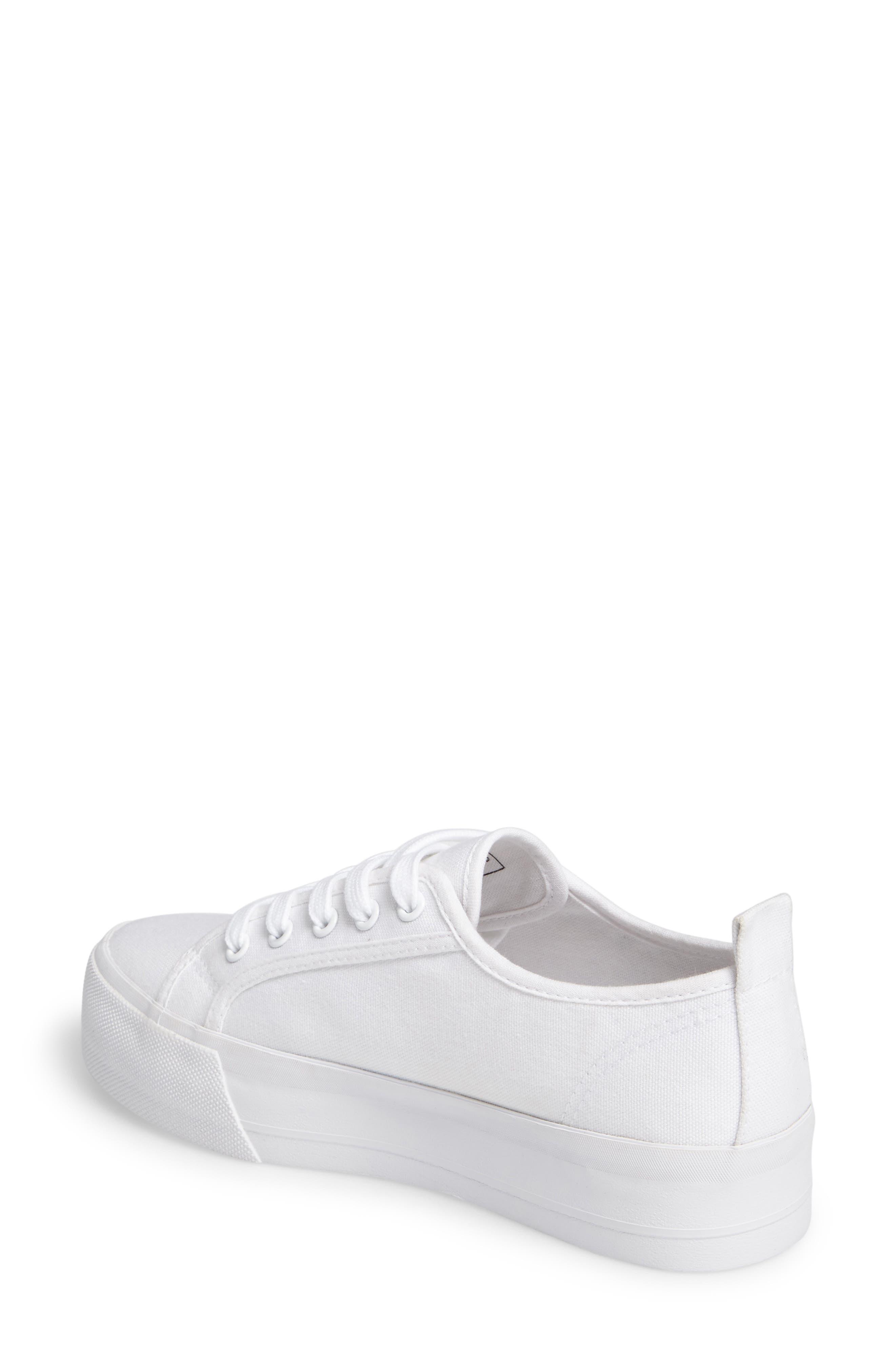 Sneak Platform Sneaker,                             Alternate thumbnail 2, color,                             White Canvas