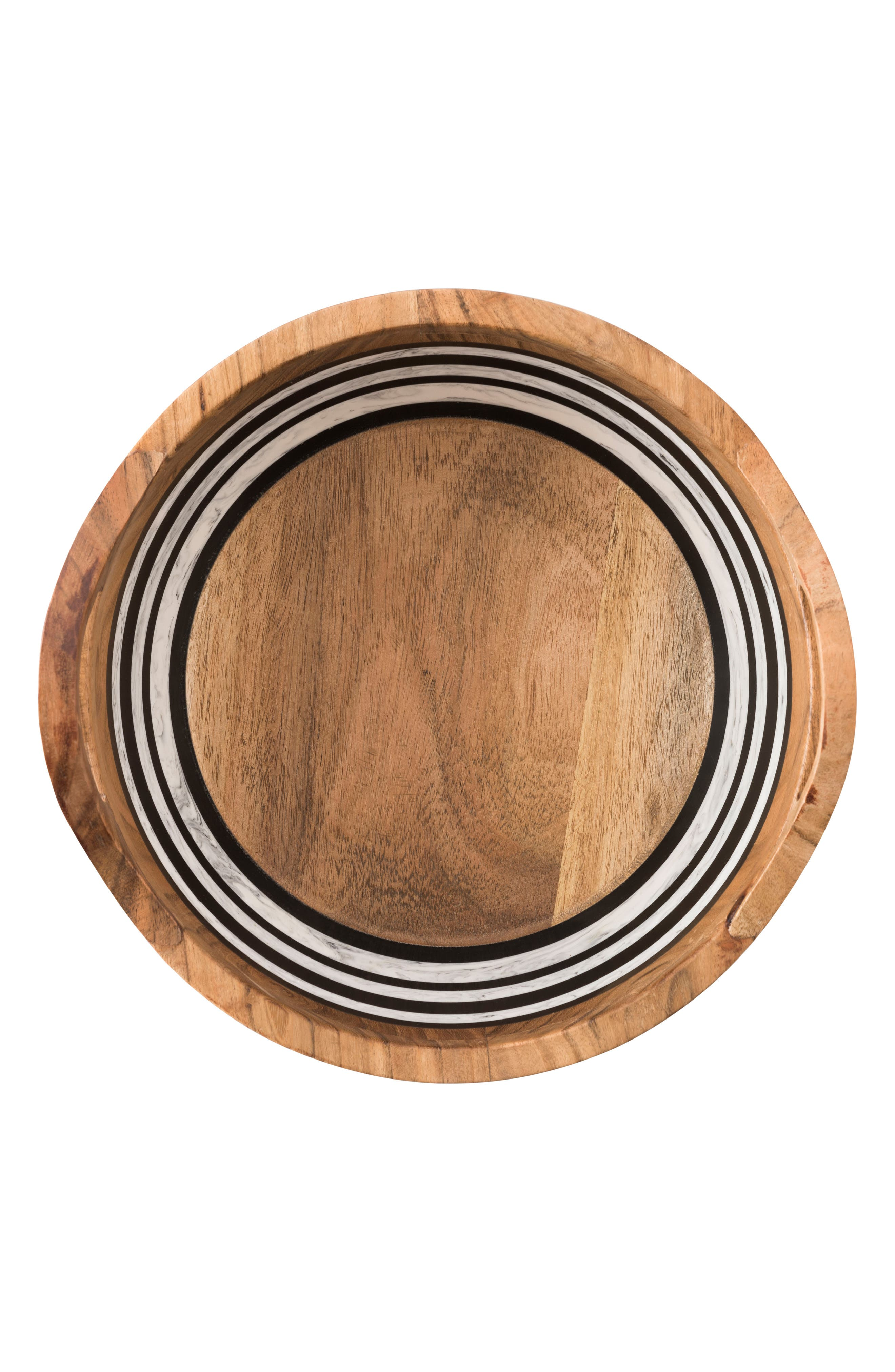 Stonewood Stripe Round Serving Bowl,                             Alternate thumbnail 2, color,                             Natural Stripe