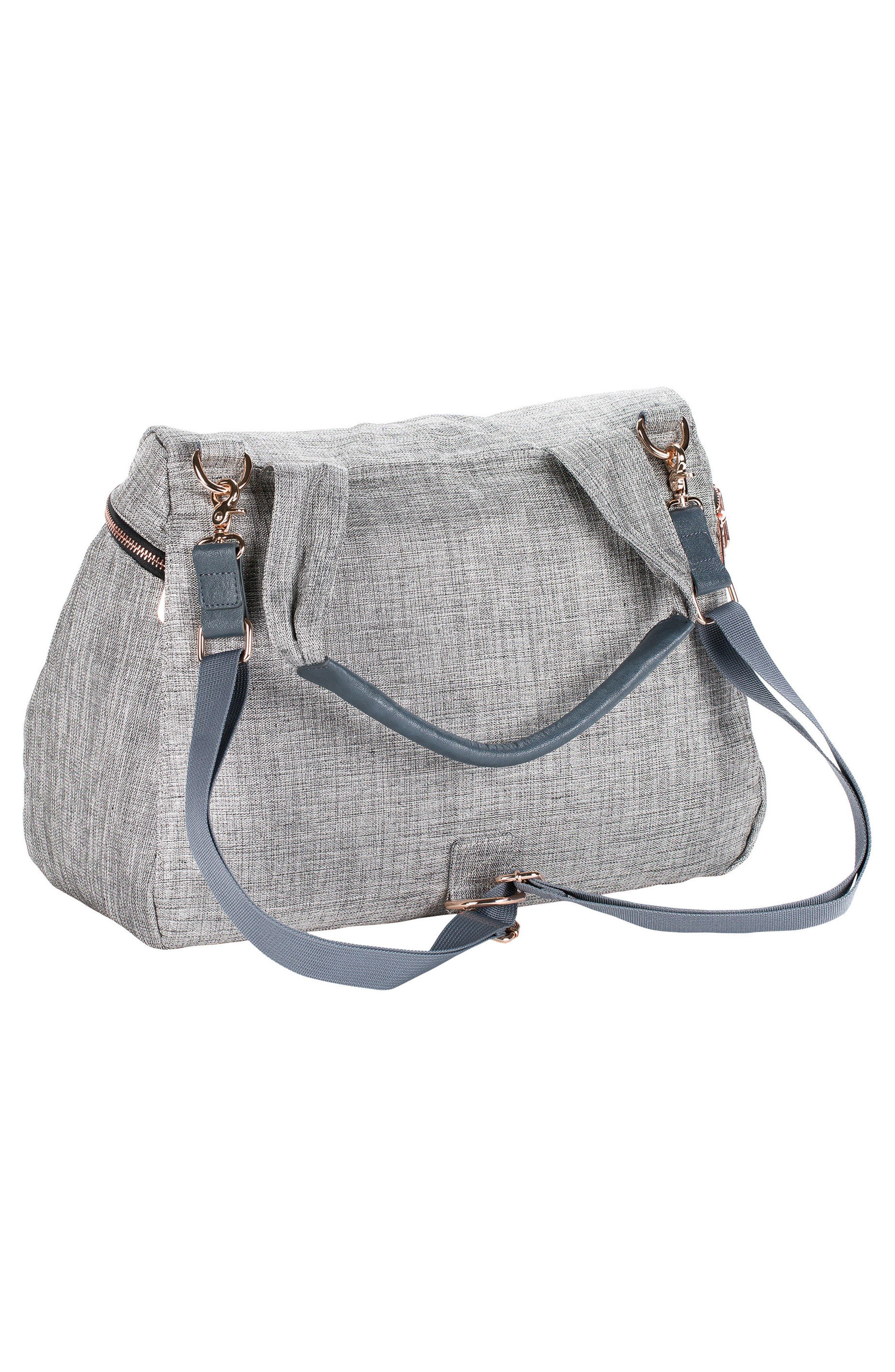 Glam Rosie Diaper Bag,                             Alternate thumbnail 2, color,                             Anthracite Glitter