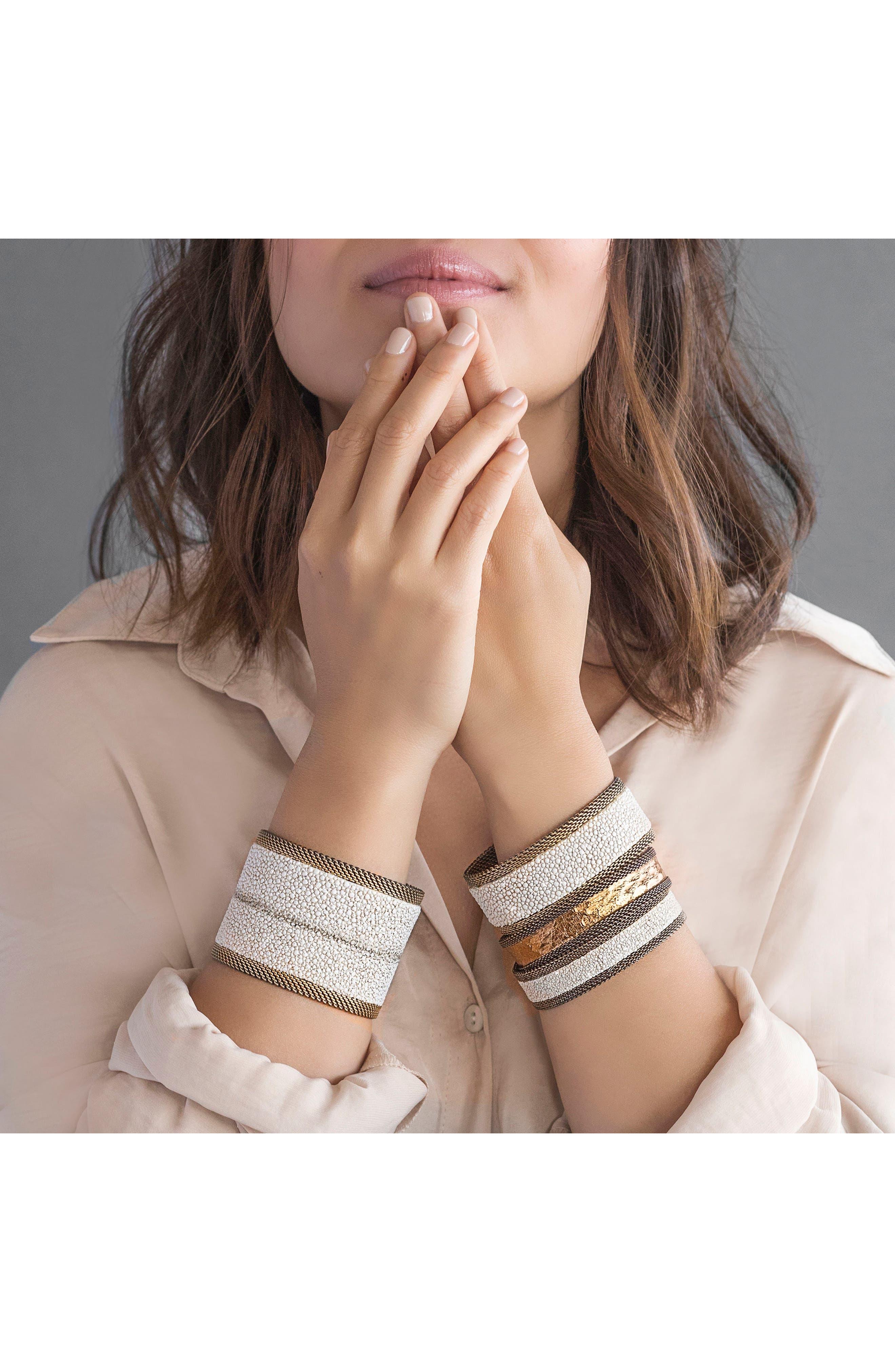 Alternate Image 5  - Cynthia Desser Genuine Stingray Skin Bracelet