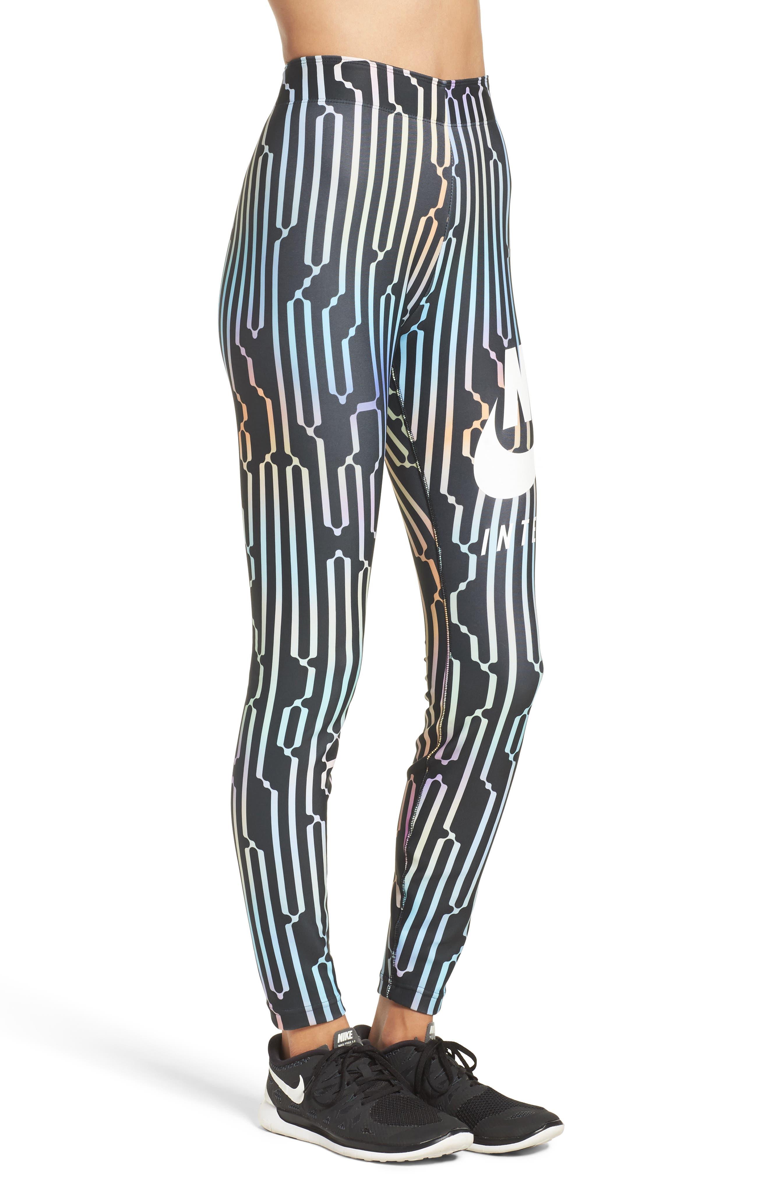 International Leggings,                             Alternate thumbnail 3, color,                             Black/ White