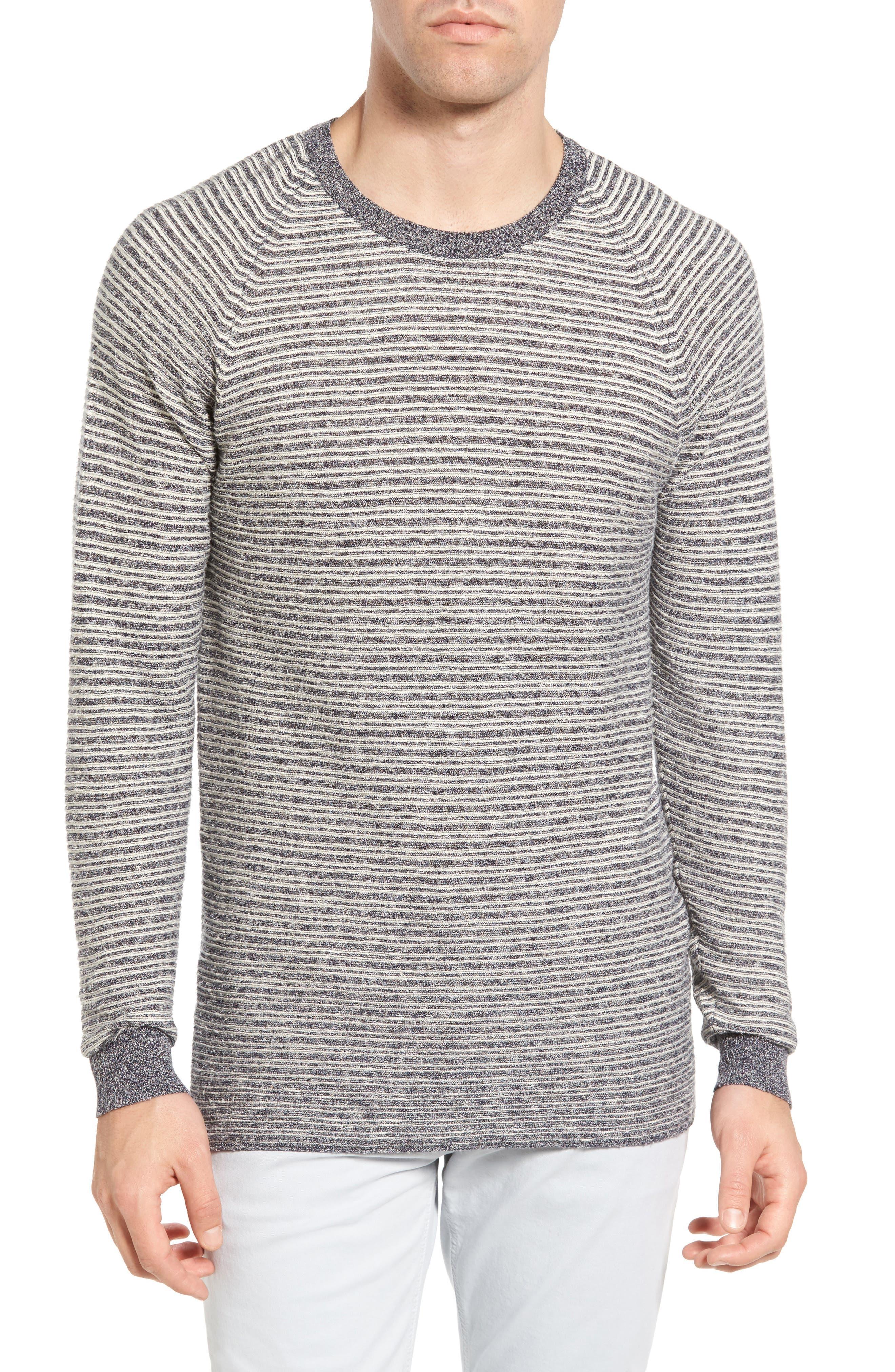 Billy Reid Combo Stripe Crewneck Sweater