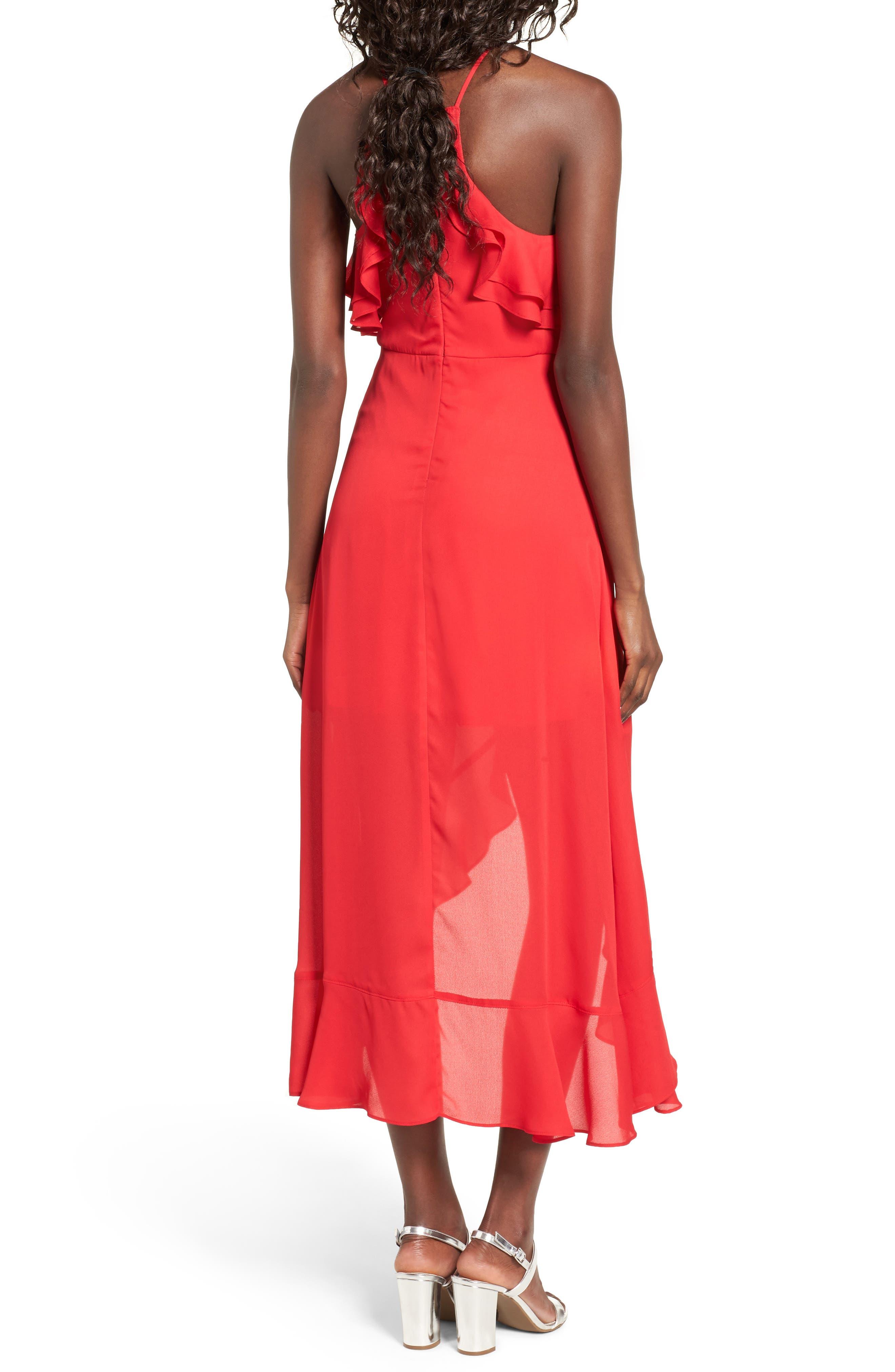 Alternate Image 2  - Dee Elly Ruffle Halter Midi Dress