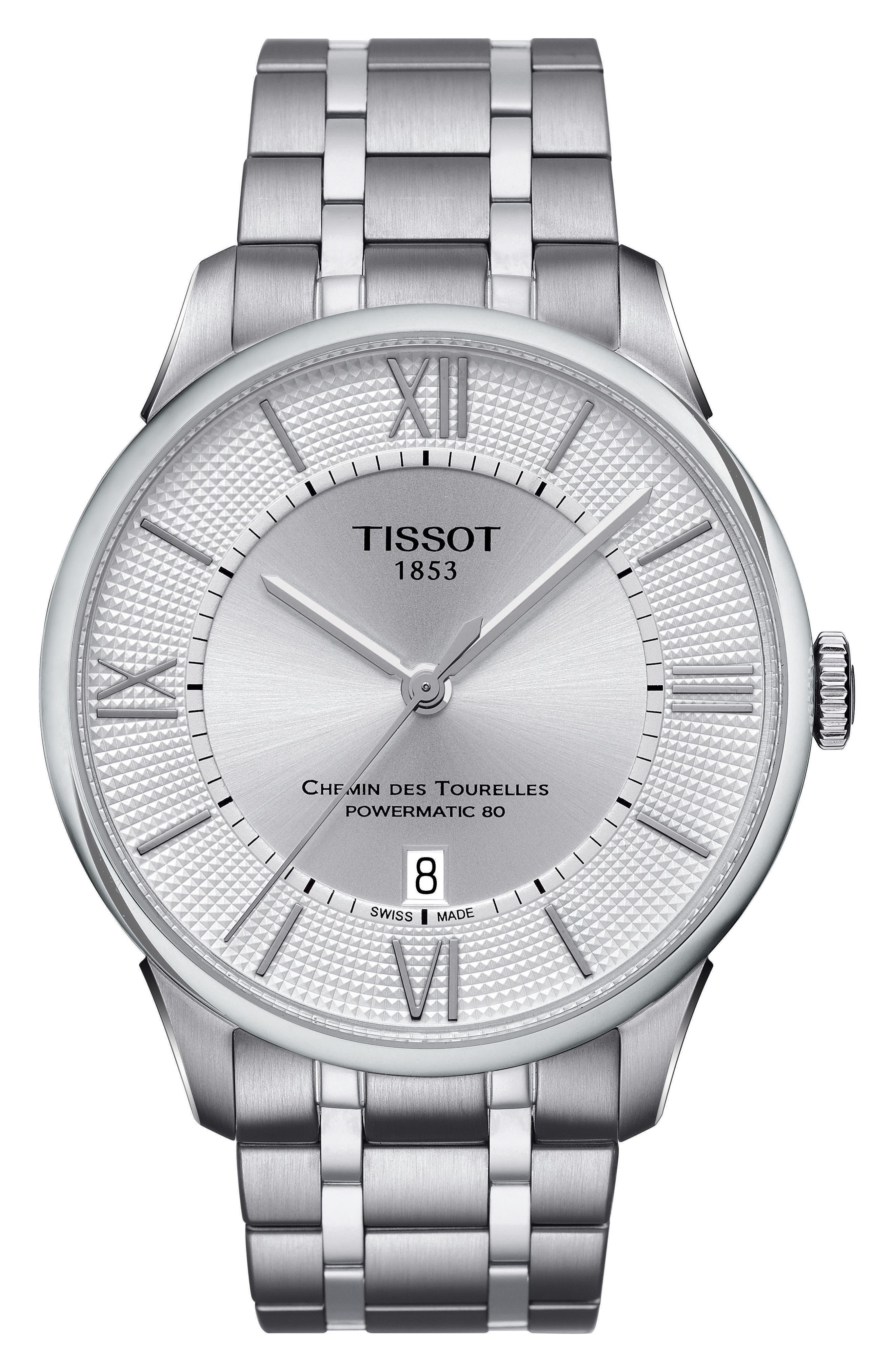 Main Image - Tissot Chemin Des Tourelles Automatic Bracelet Watch, 42mm
