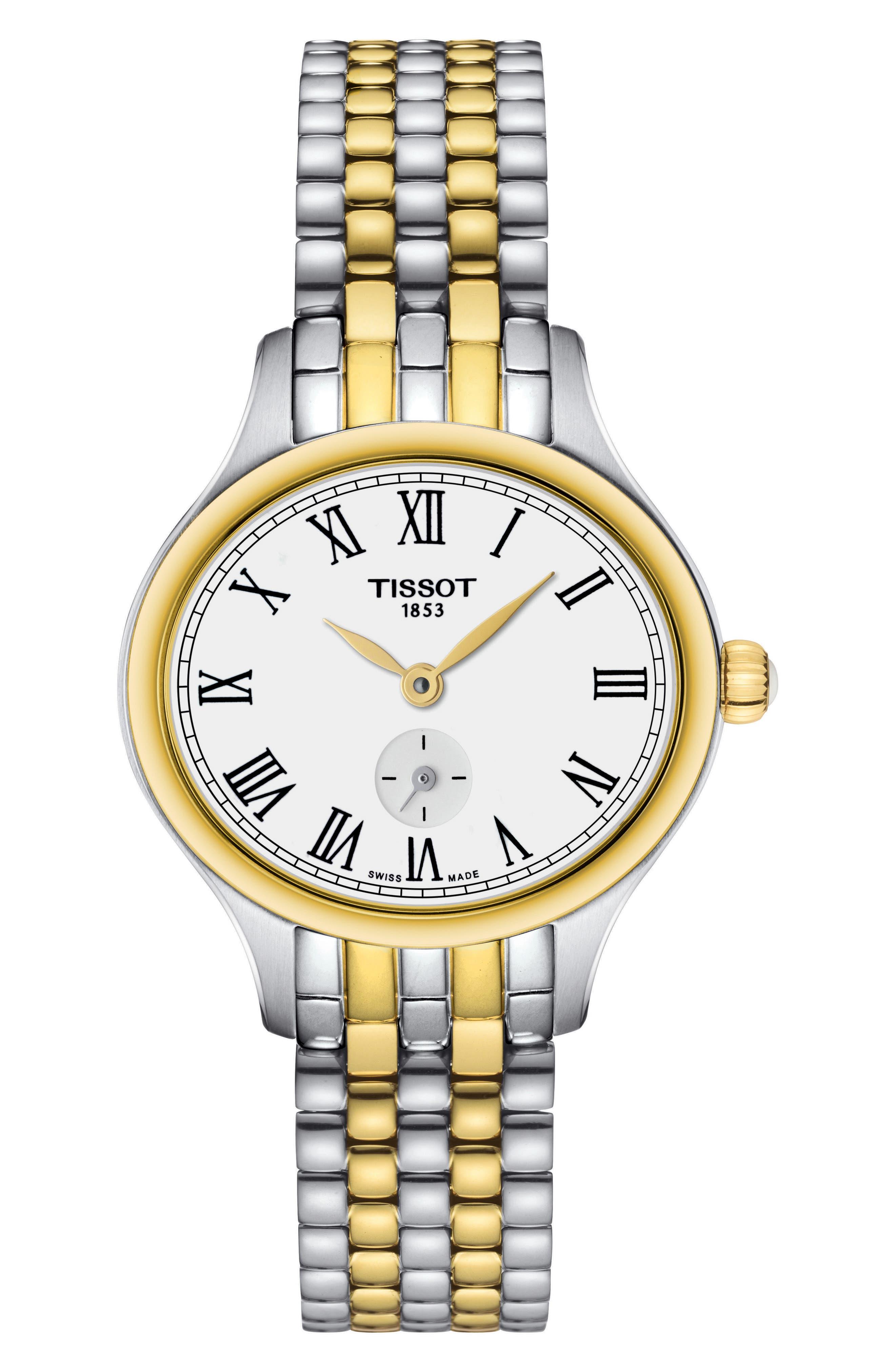 Bella Ora Piccola Bracelet Watch, 24mm,                             Main thumbnail 1, color,                             Silver/ Gold