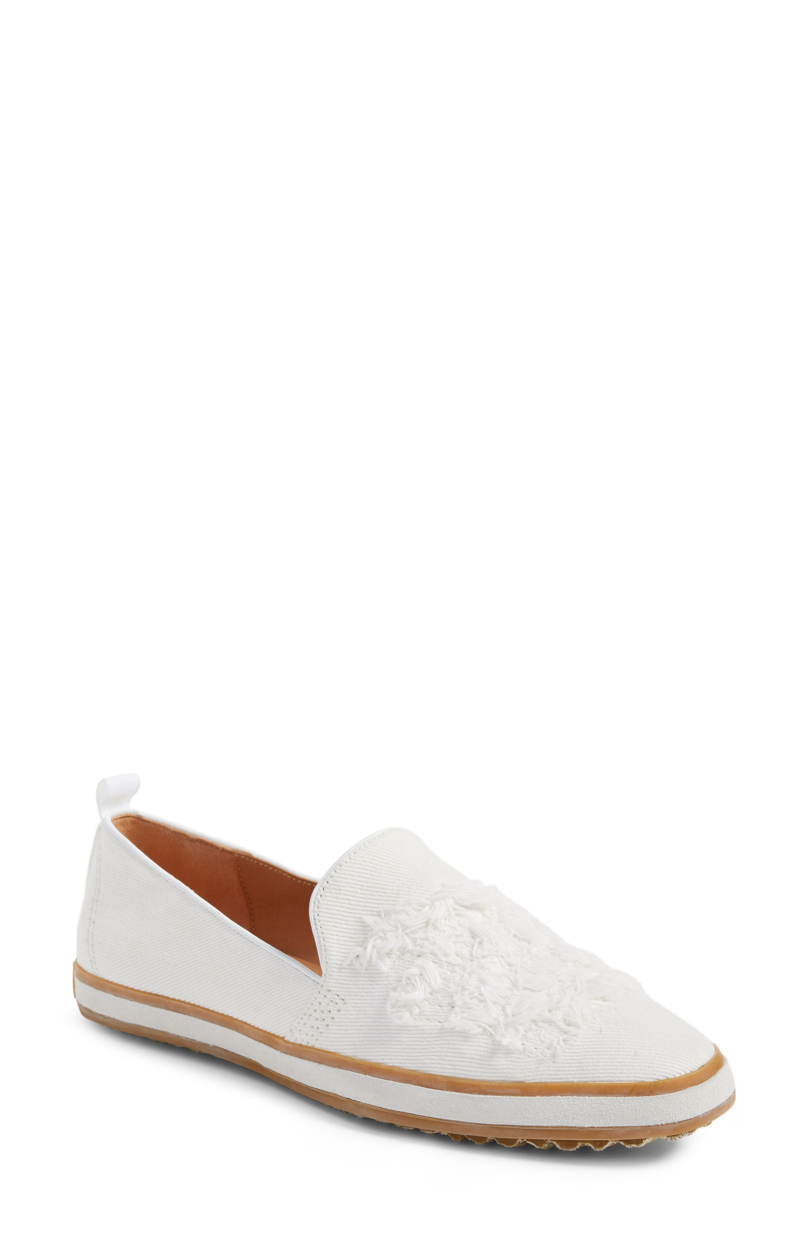 Sutton Loafer Flat,                             Main thumbnail 1, color,                             White
