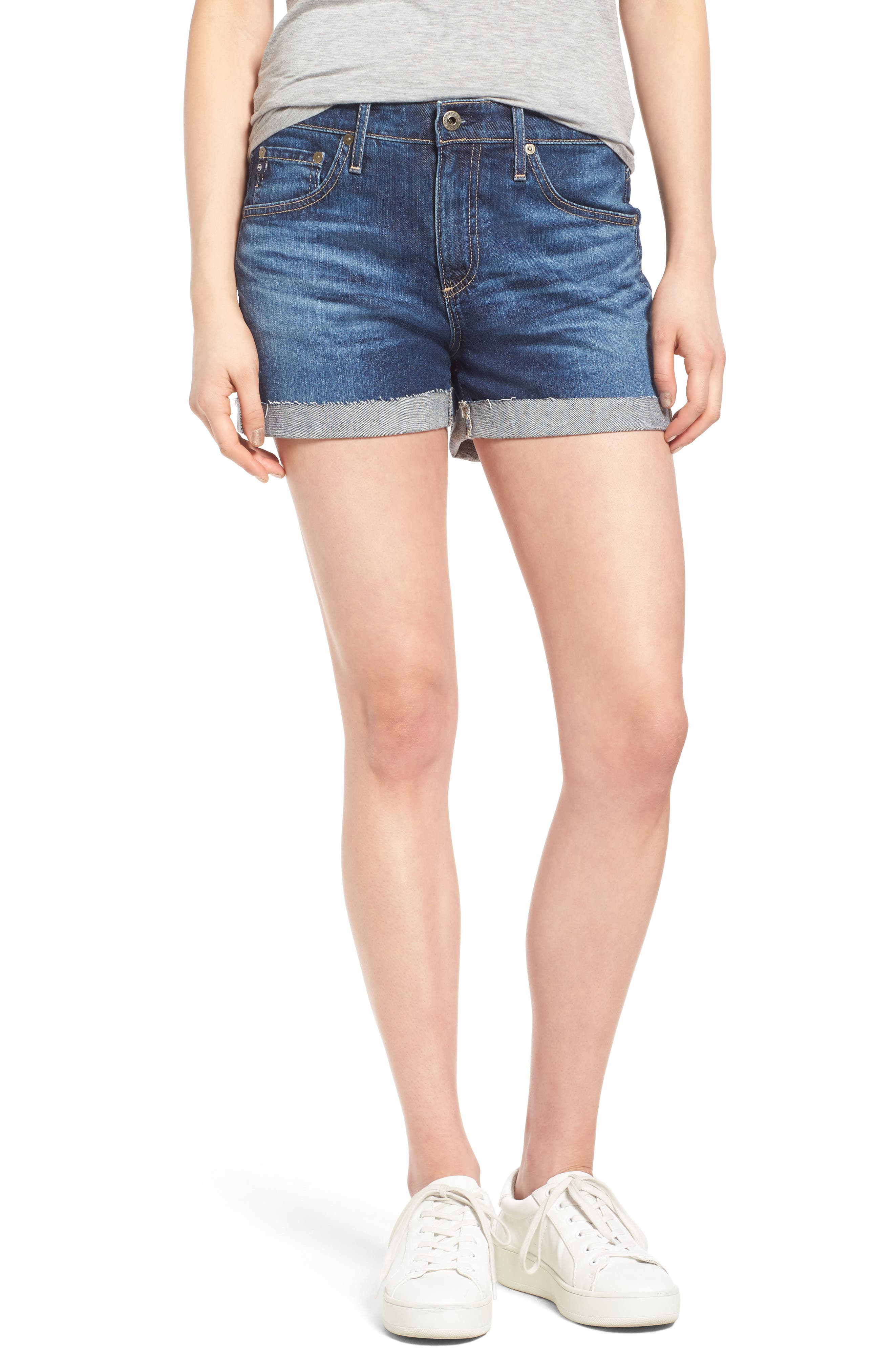 AG Hailey High Waist Denim Shorts (Masquerade)