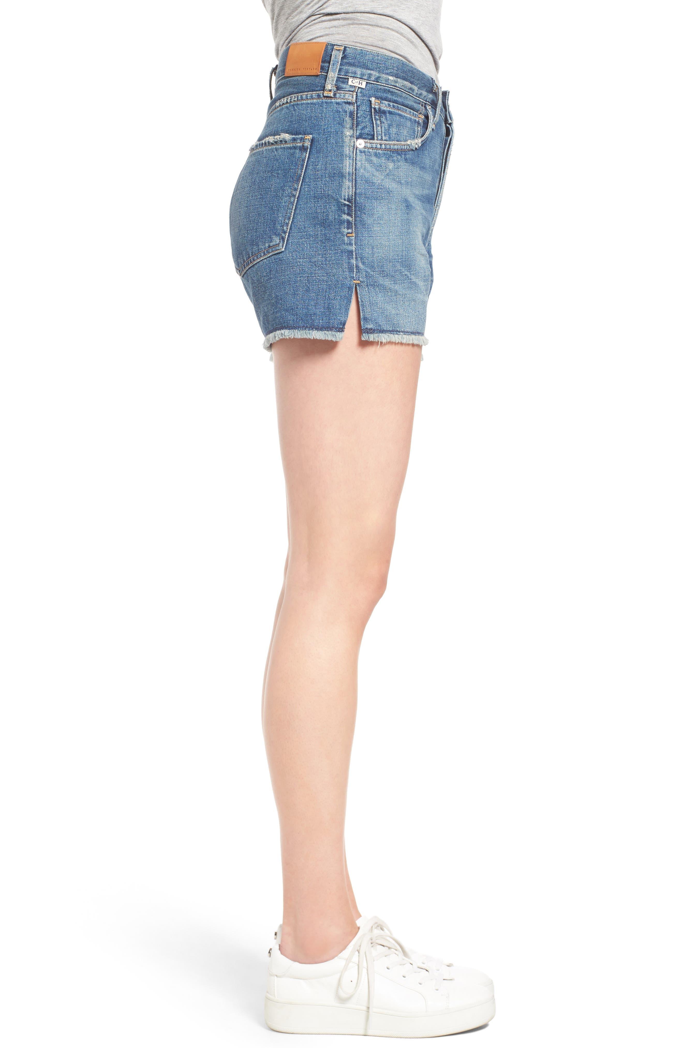 Alyx High Waist Cutoff Denim Shorts,                             Alternate thumbnail 3, color,                             Teaser