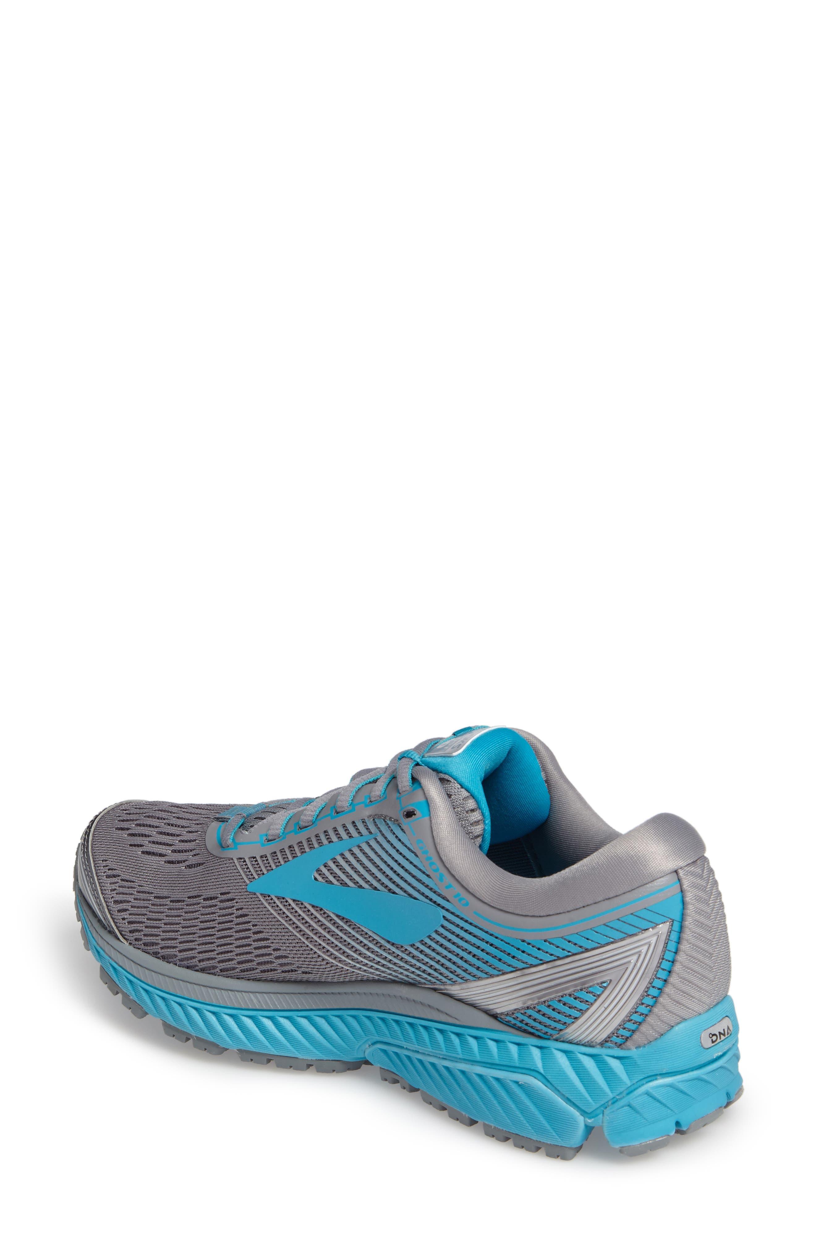 Ghost 10 Running Shoe,                             Alternate thumbnail 2, color,                             Primer Grey/ Teal/ Silver