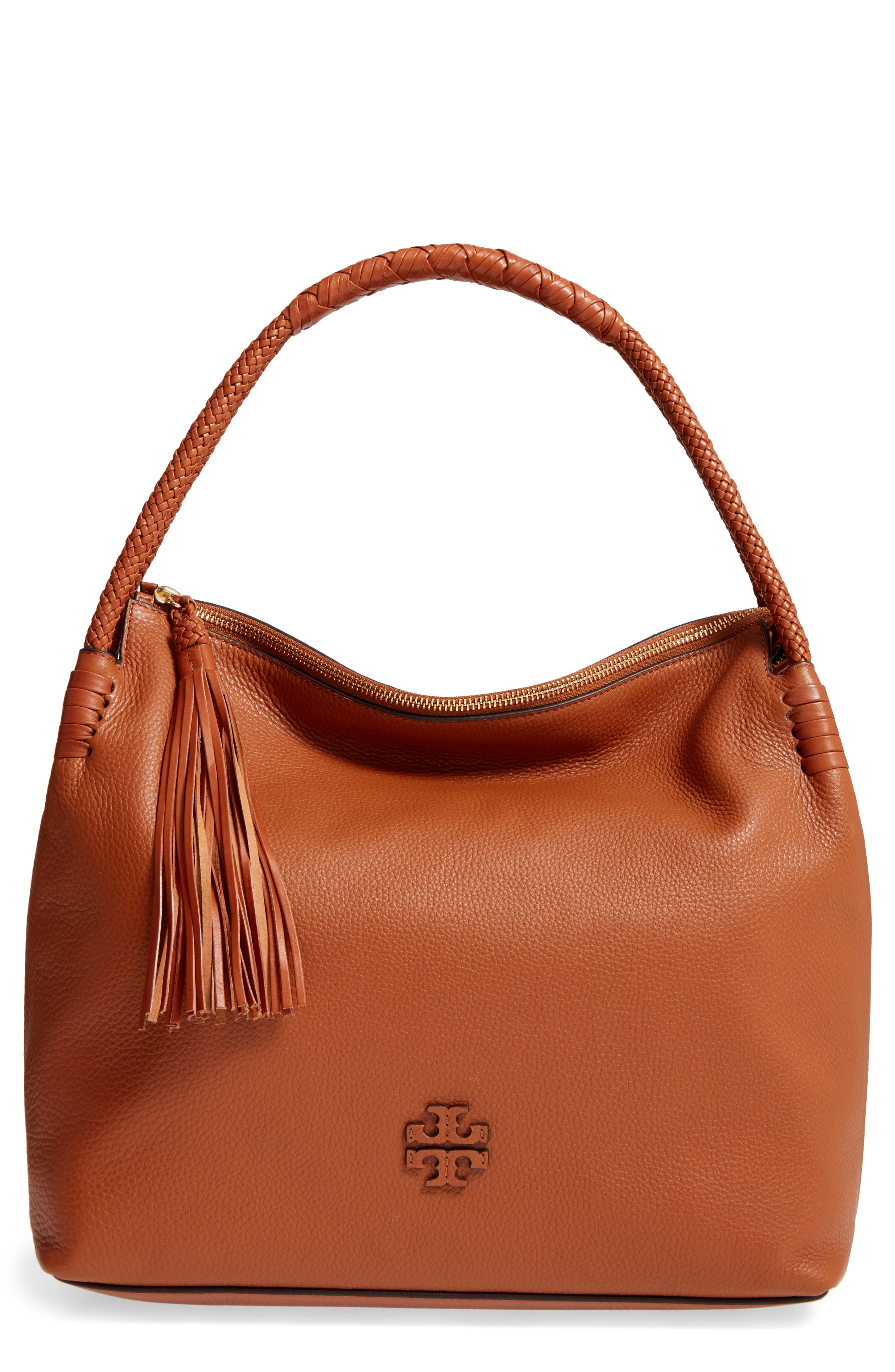 Taylor Leather Hobo Bag,                         Main,                         color, Saddle