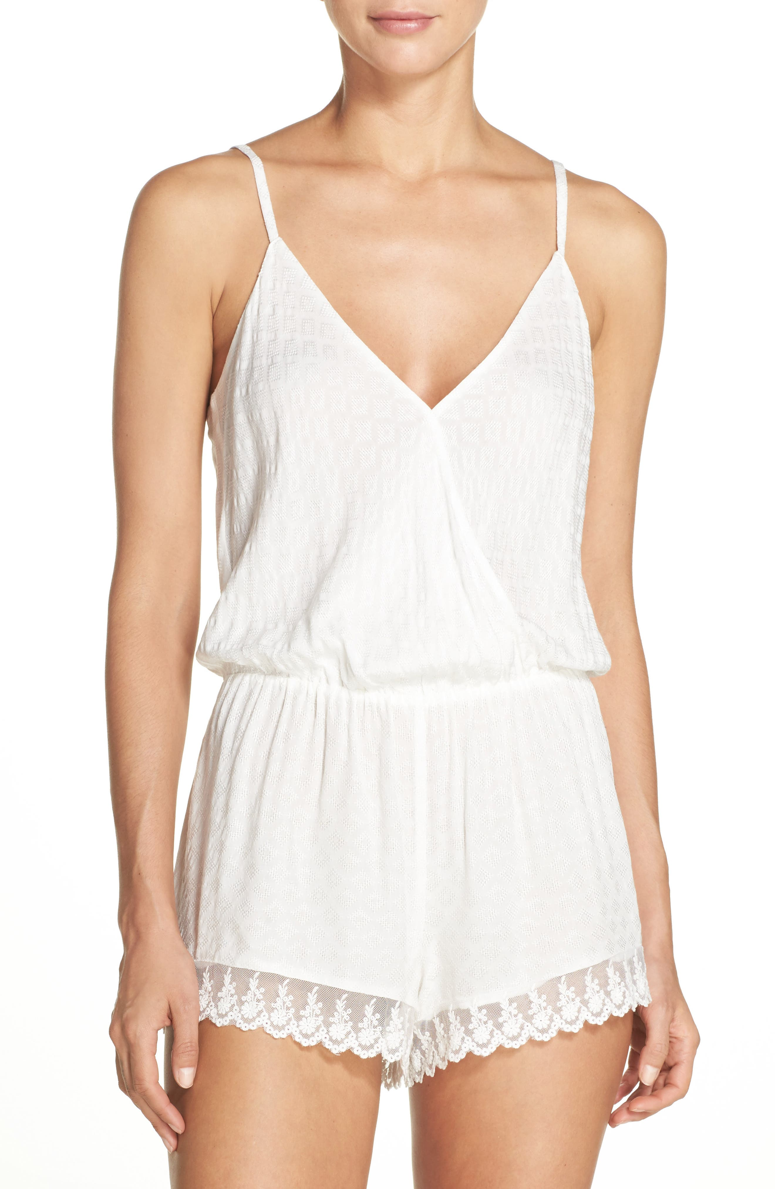 Laurel Romper,                             Main thumbnail 1, color,                             Ivory