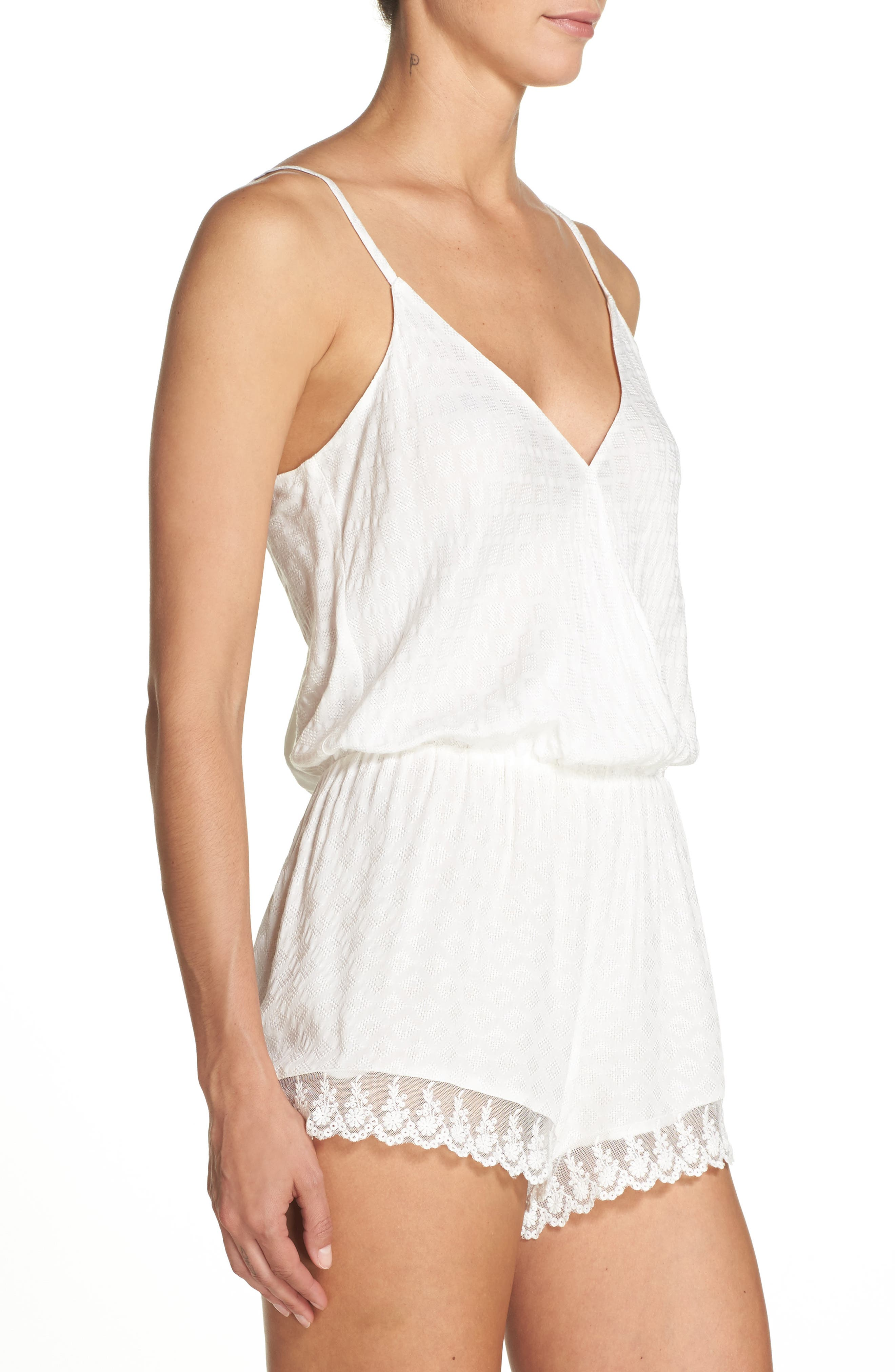 Laurel Romper,                             Alternate thumbnail 3, color,                             Ivory