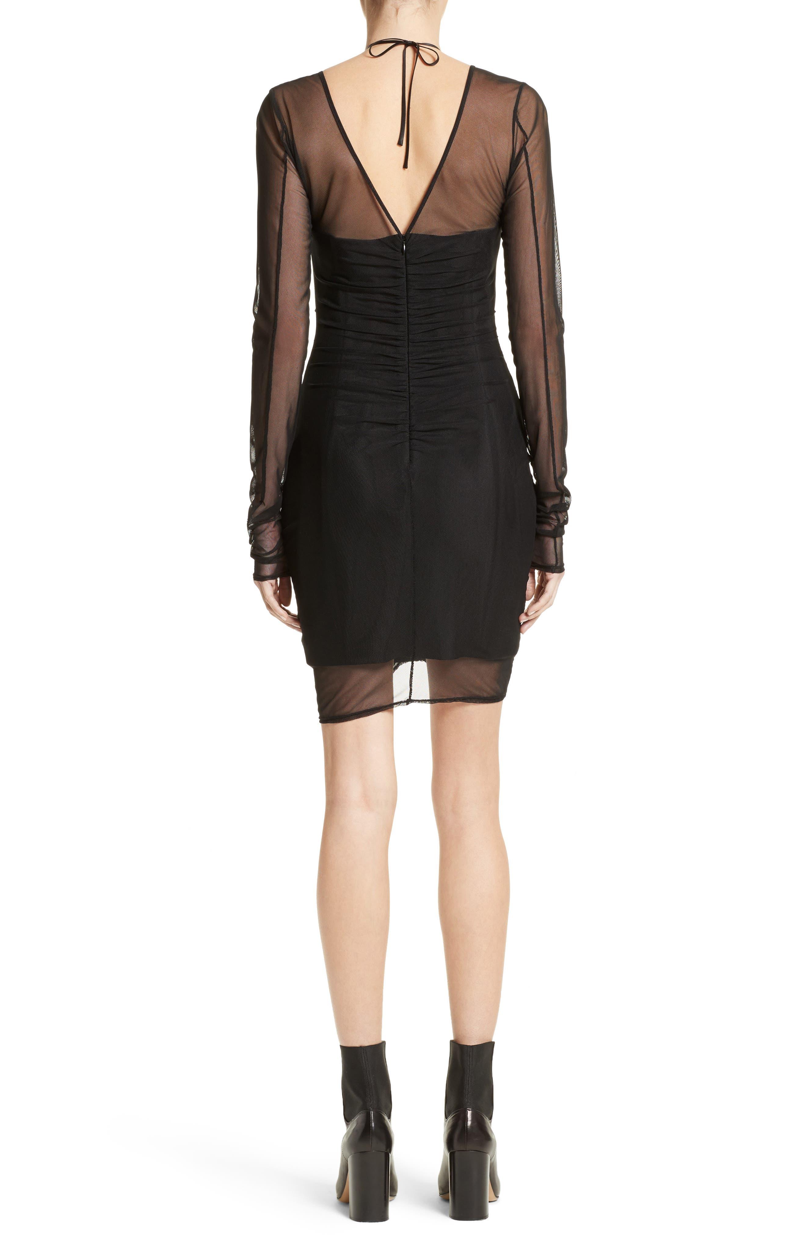 Grant Mesh Dress,                             Alternate thumbnail 2, color,                             Black