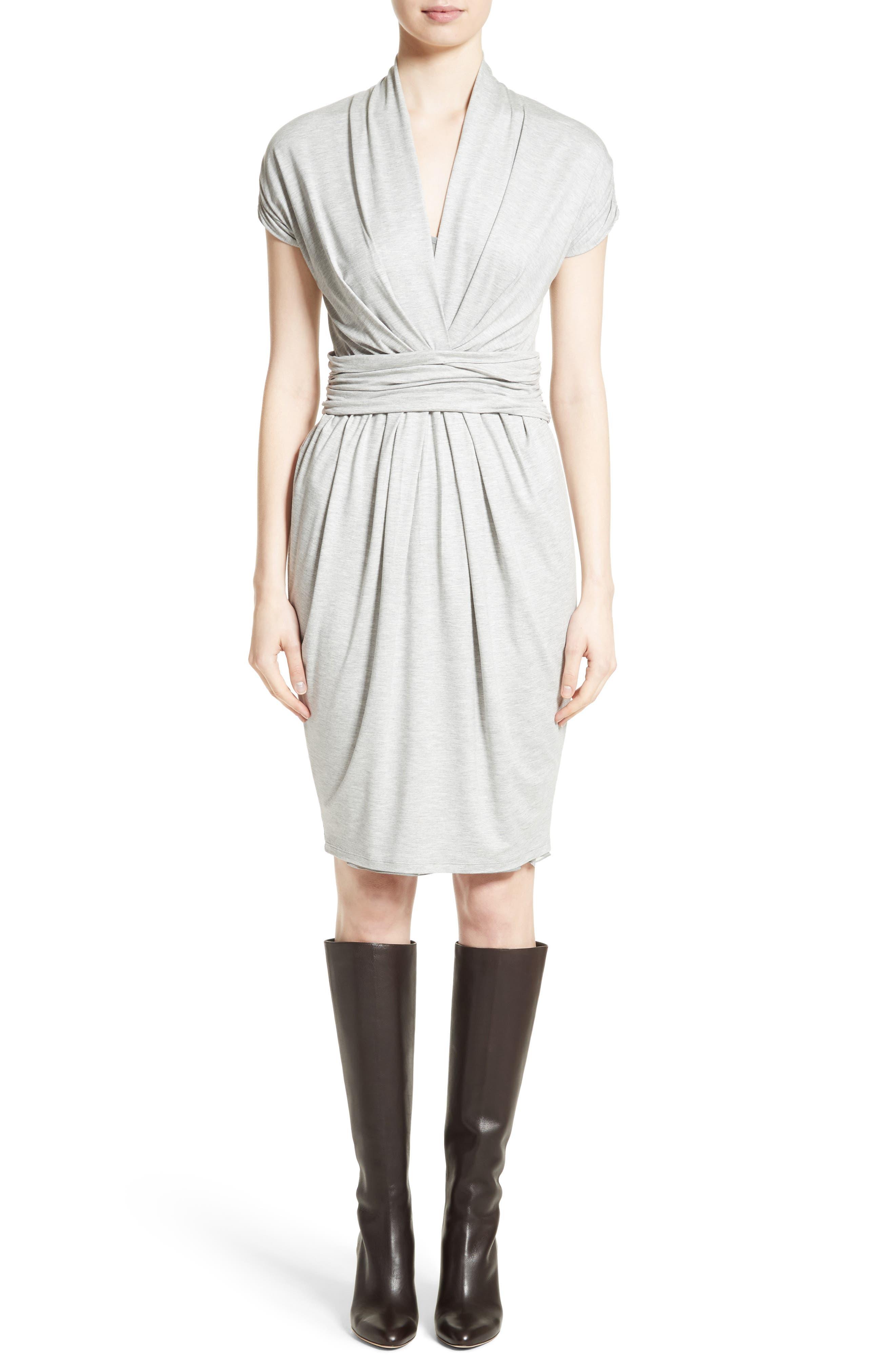 Pergola Jersey Dress,                         Main,                         color, Light Grey