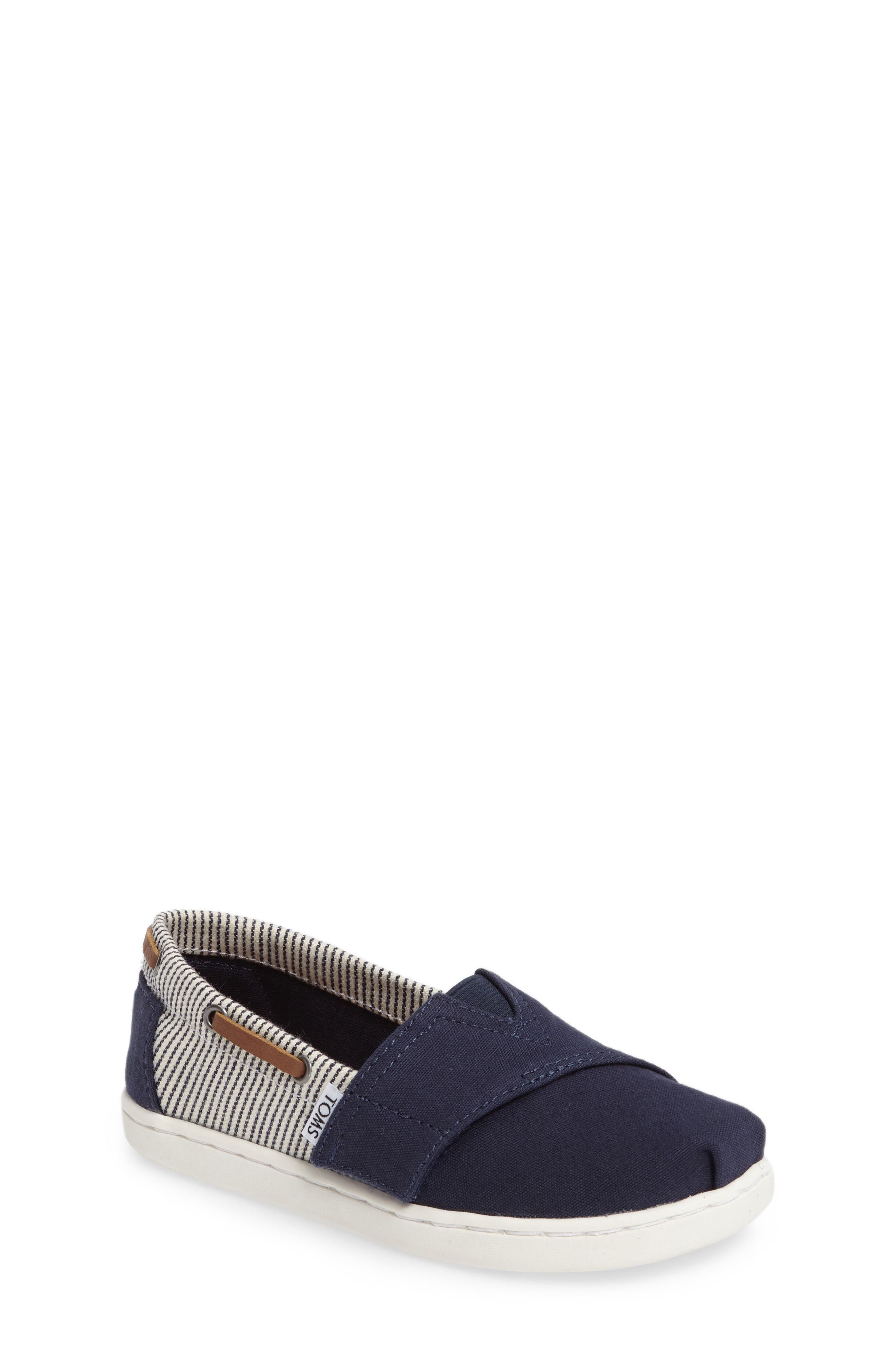 'Bimini' Print Slip-On,                         Main,                         color, Navy Canvas/ Stripes
