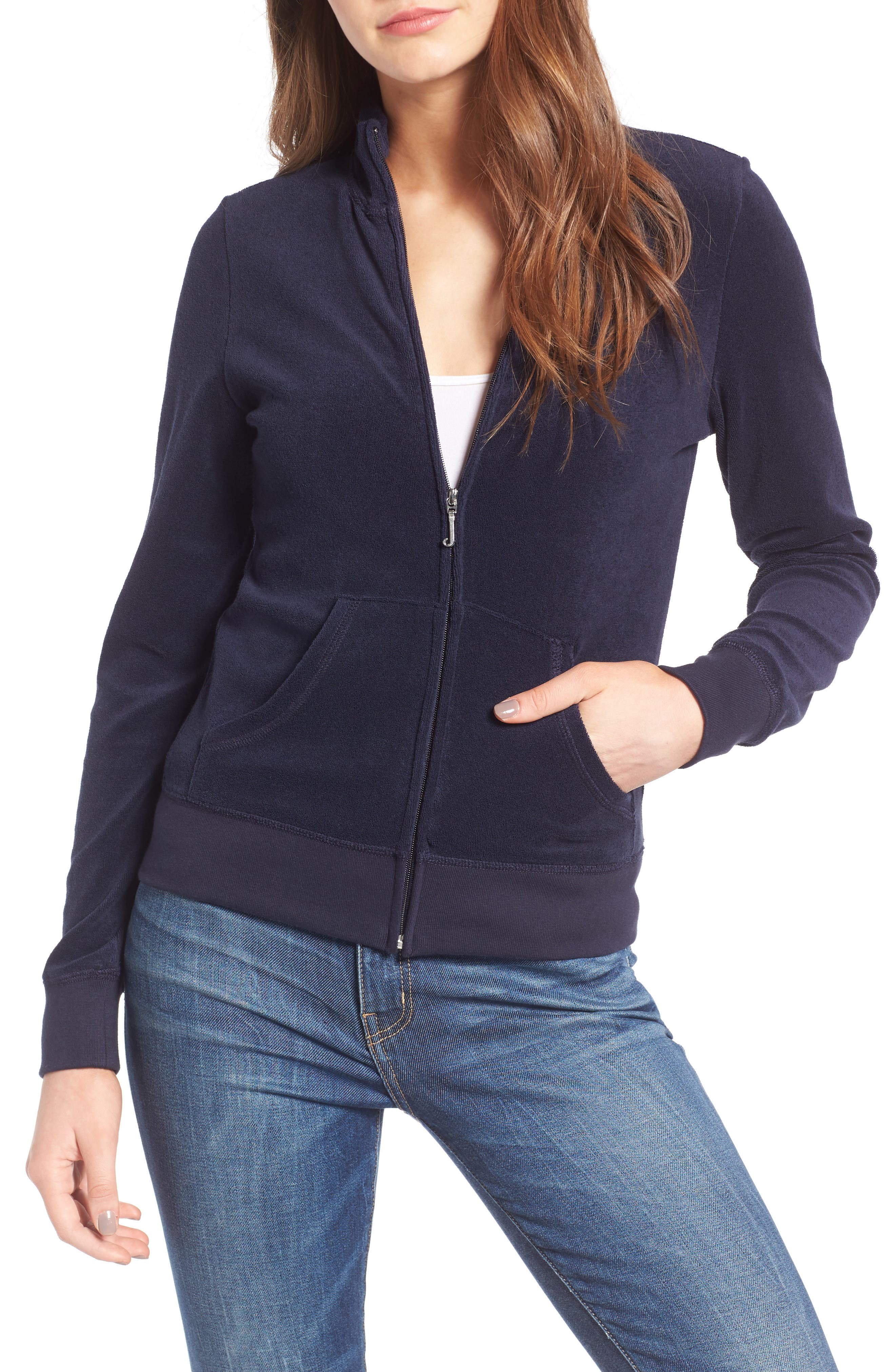 Alternate Image 1 Selected - Juicy Couture Fairfax Terry Track Jacket