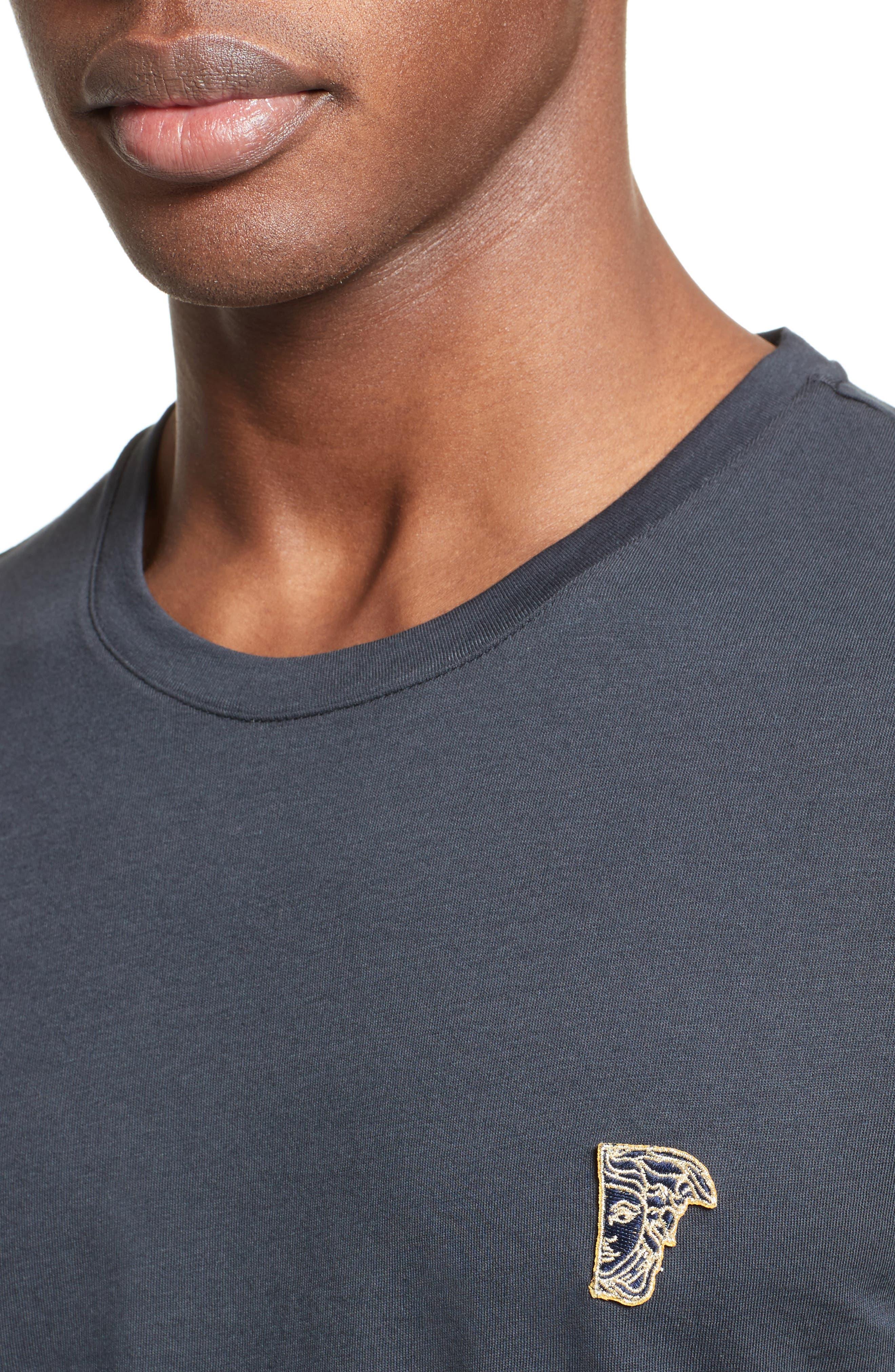 Half Medusa Patch T-Shirt,                             Alternate thumbnail 4, color,                             Navy/ Gold