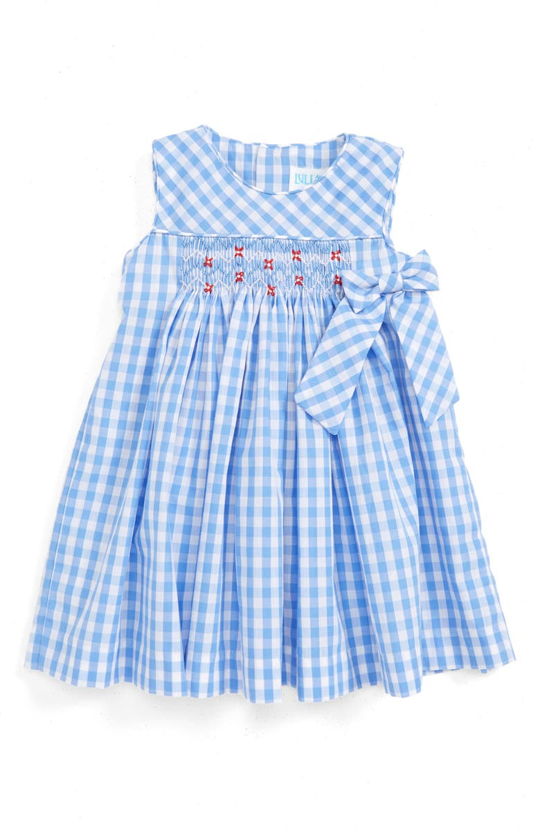 Luli & Me Gingham Check Smocked Dress (Baby Girls) | Nordstrom