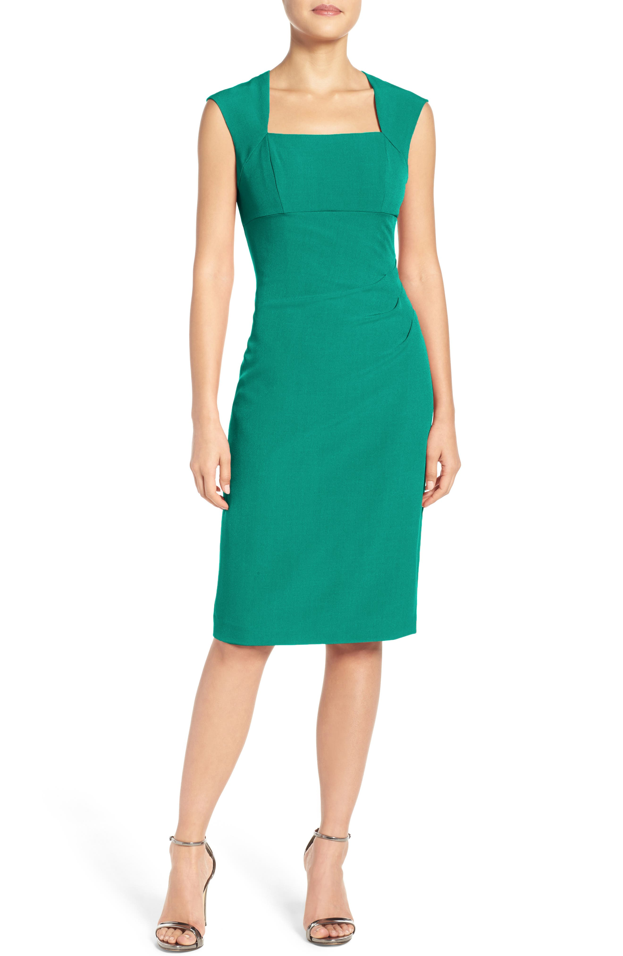 Alternate Image 1 Selected - Adrianna Papell Pleated Sheath Dress