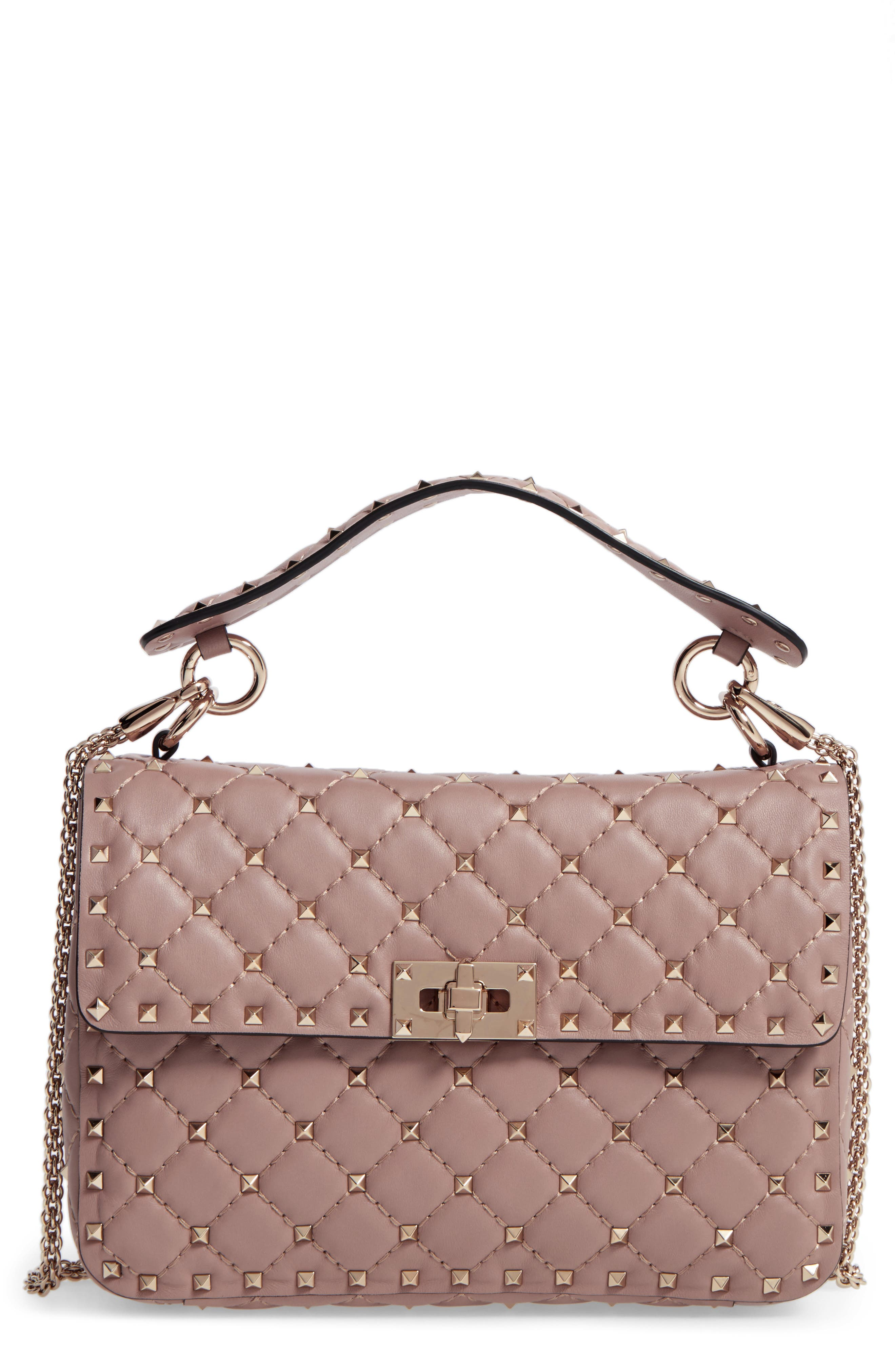 Main Image - VALENTINO GARAVANI Medium Rockstud Spike Crossbody Bag
