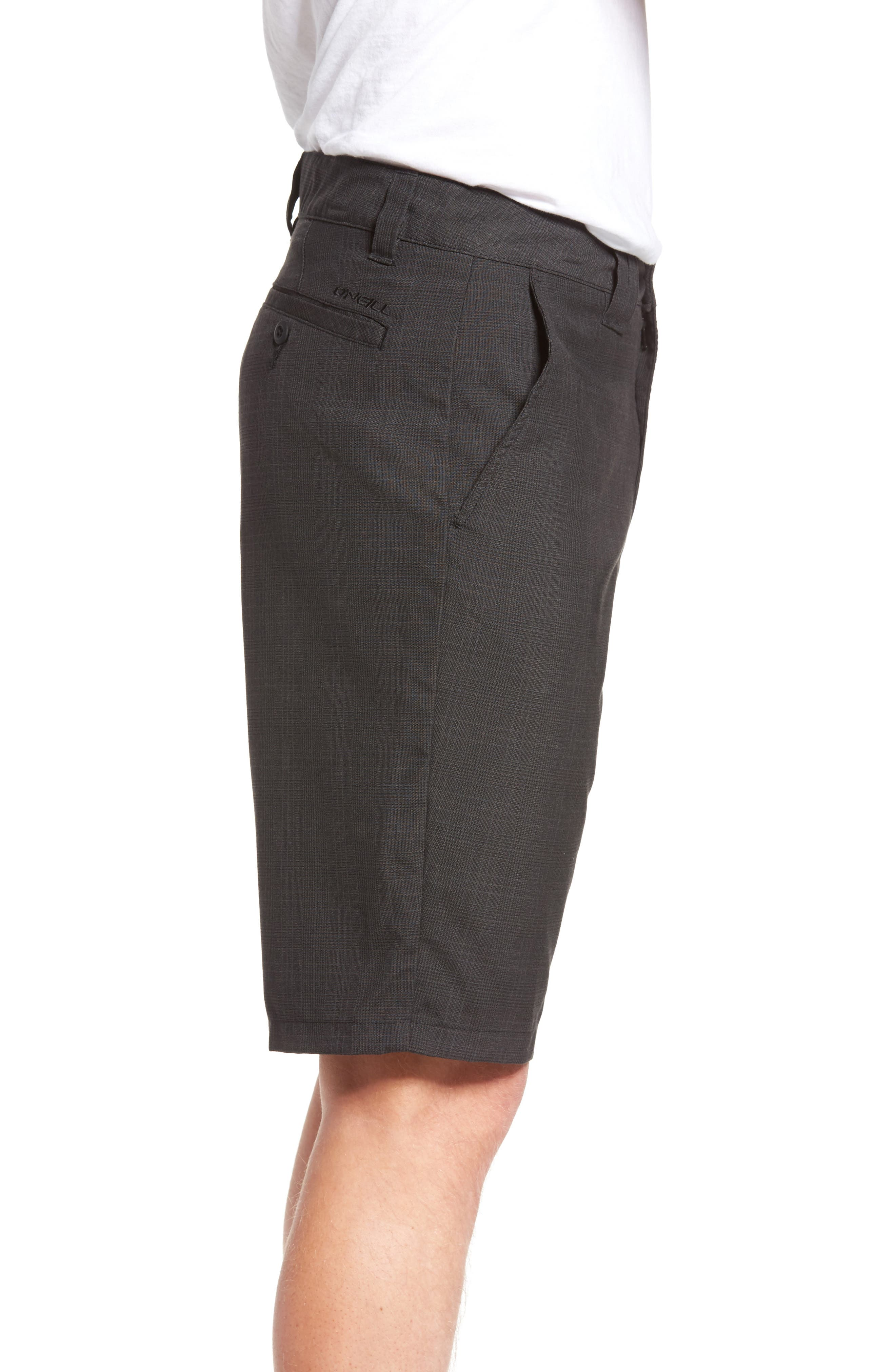 Delta Glen Plaid Shorts,                             Alternate thumbnail 3, color,                             Black