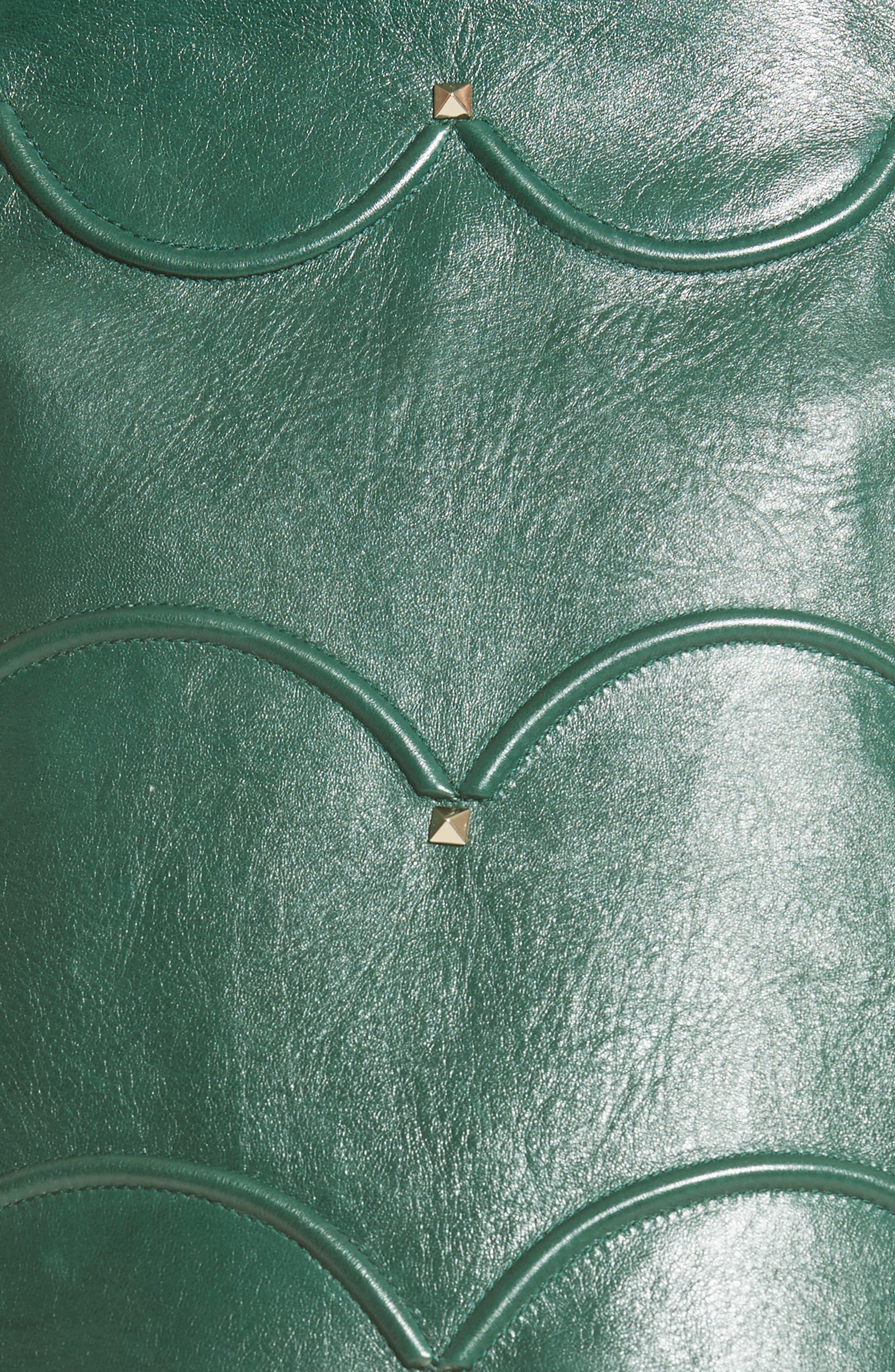 Alternate Image 3  - Valentino Scallop Detail Leather Miniskirt