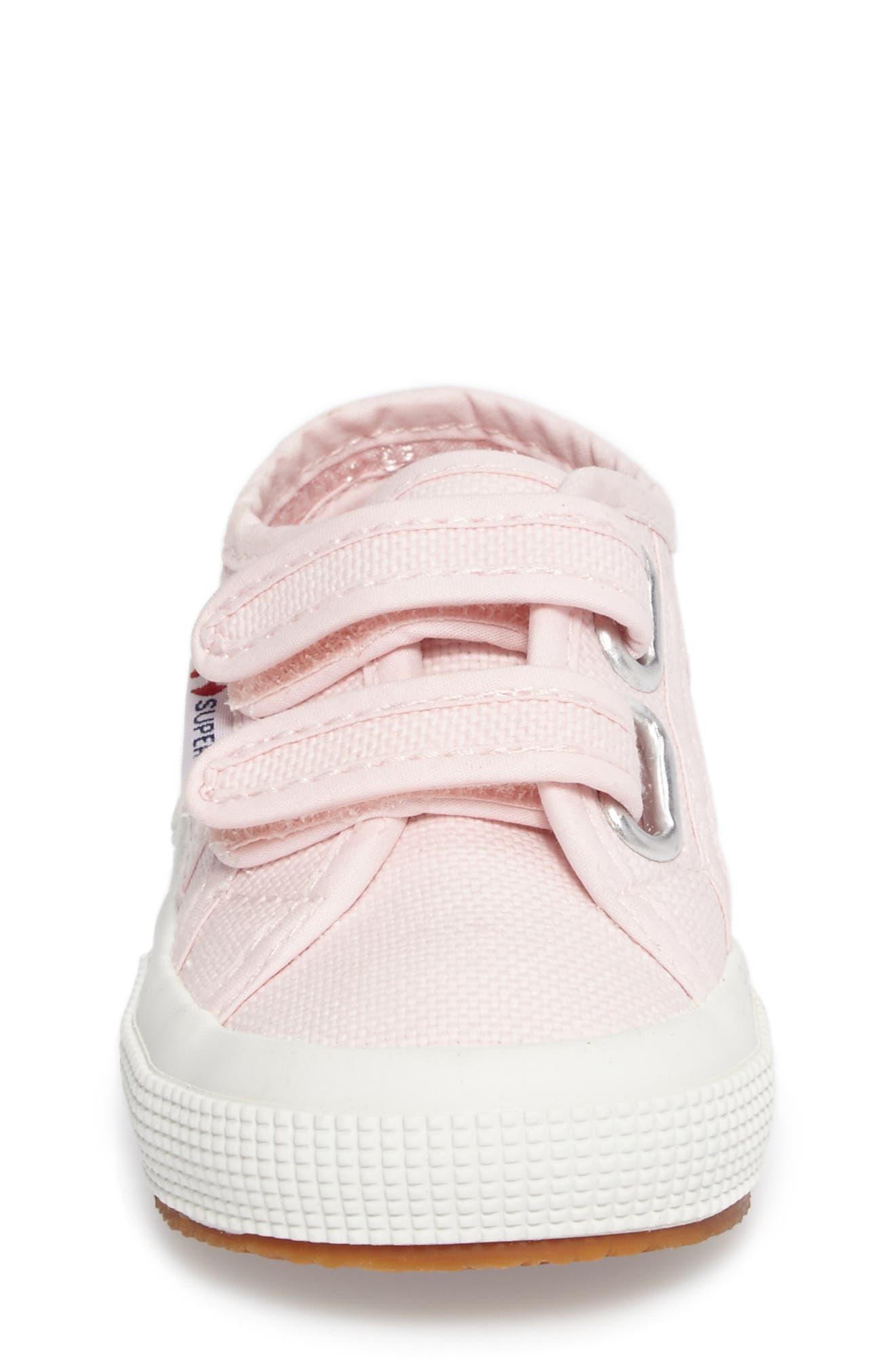 'Junior Classic' Sneaker,                             Alternate thumbnail 4, color,                             Pink