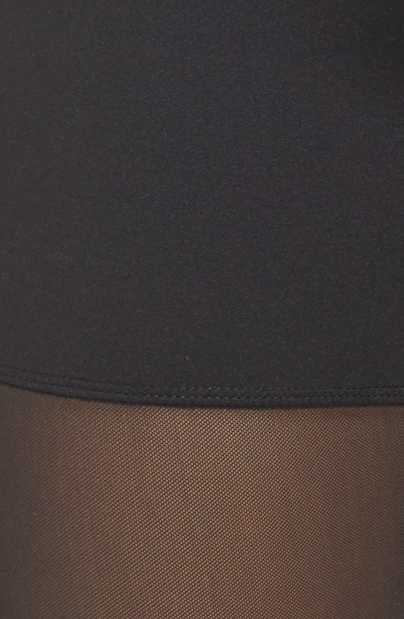 Mia High Waist Mesh Bike Shorts,                             Alternate thumbnail 5, color,                             Black