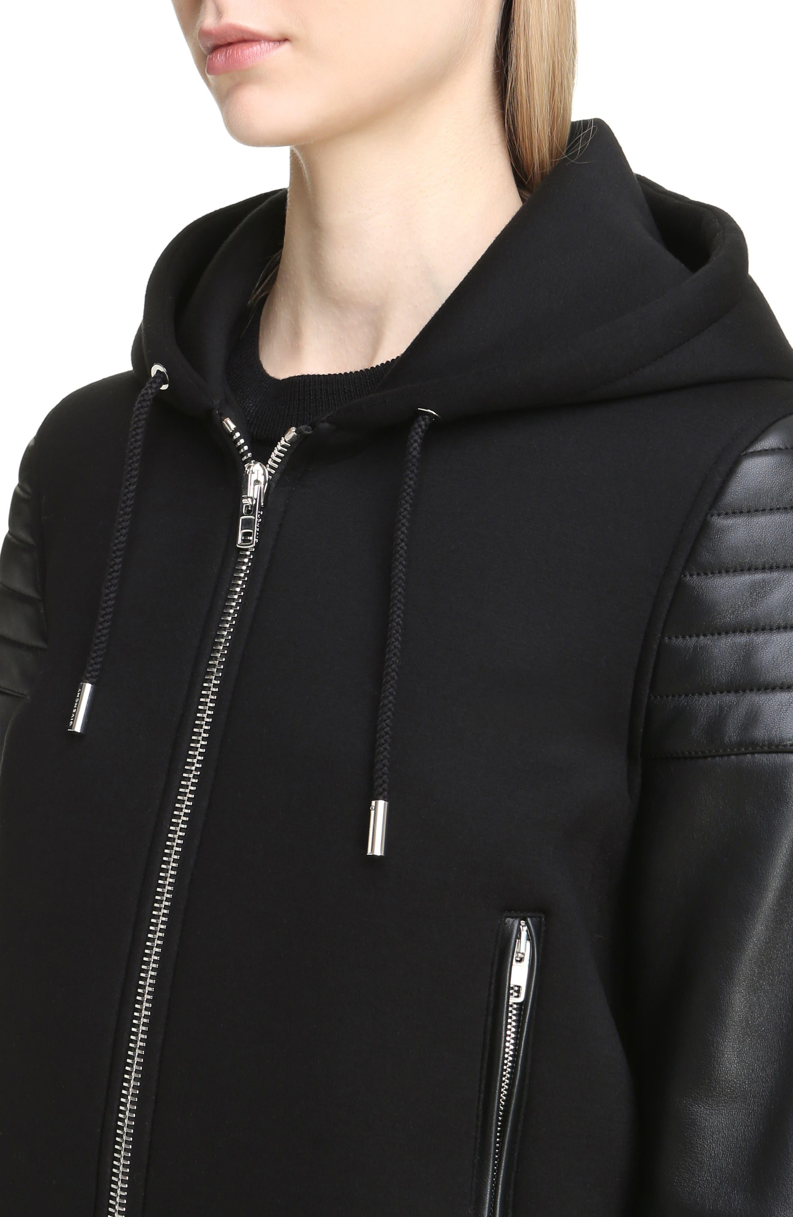 Alternate Image 4  - Givenchy Neoprene & Leather Hooded Moto Jacket