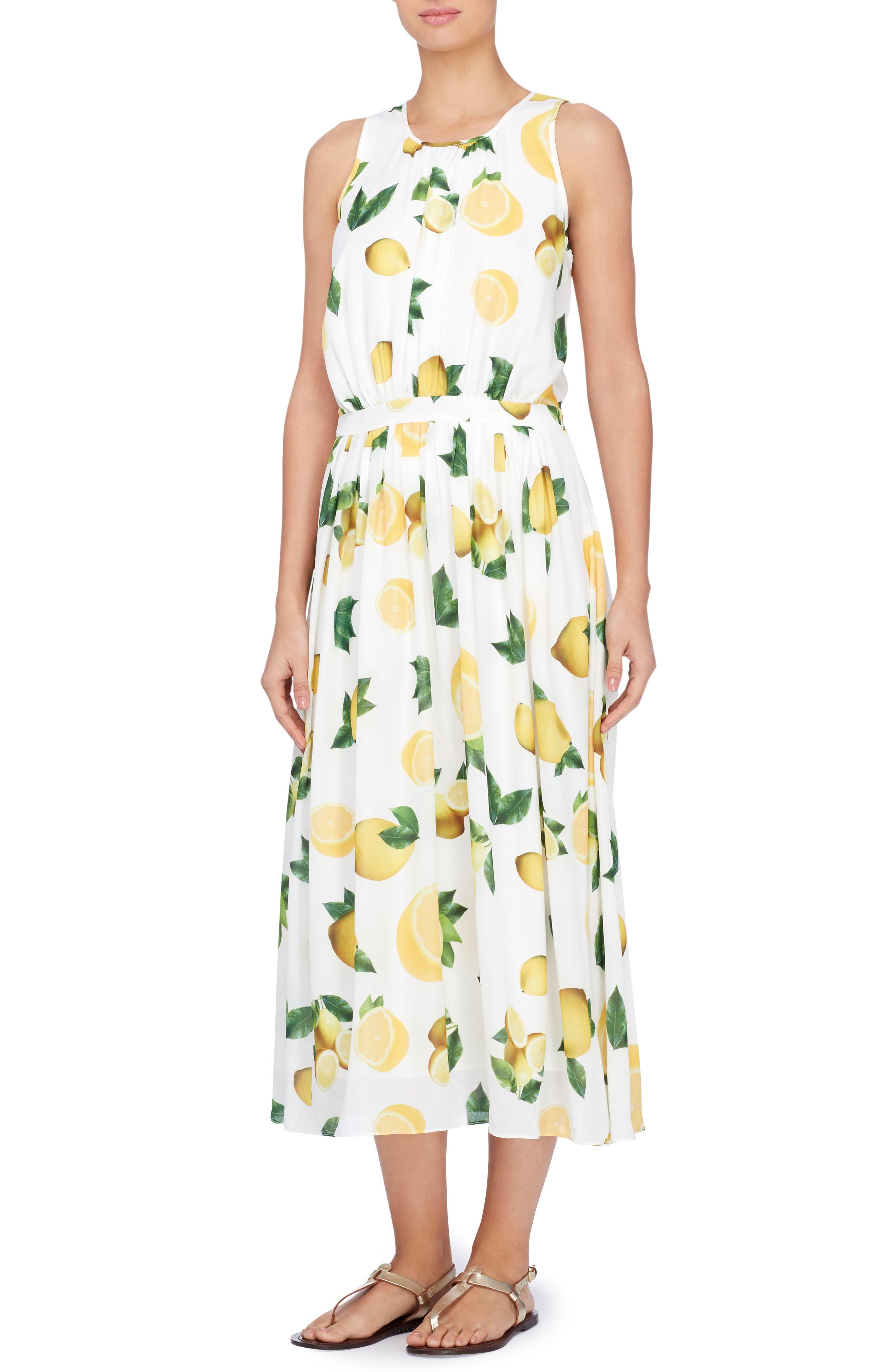 Alternate Image 1 Selected - Catherine Catherine Malandrino Alfie Print Midi Dress