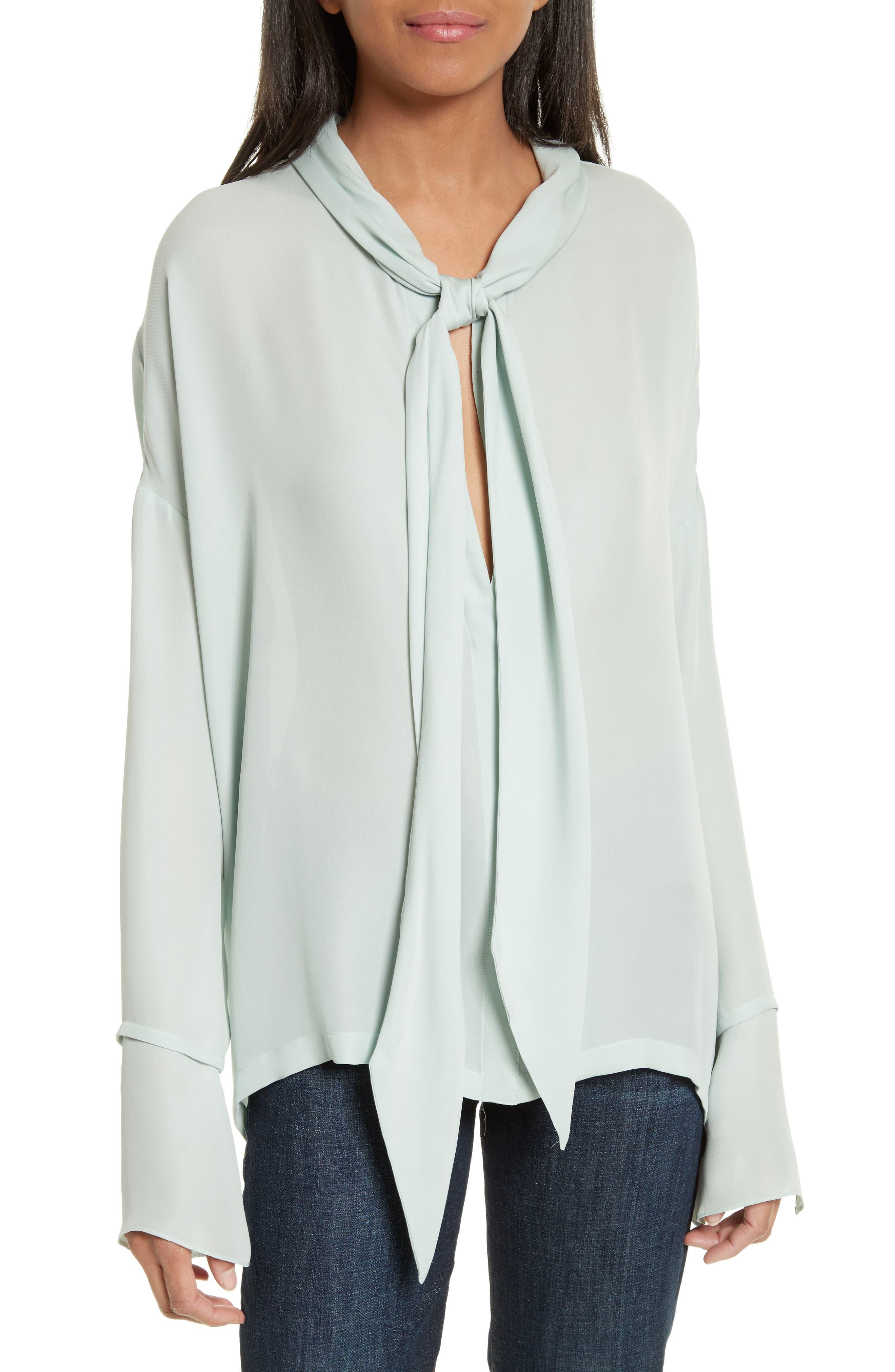 Theory Silk Scarf Shirt