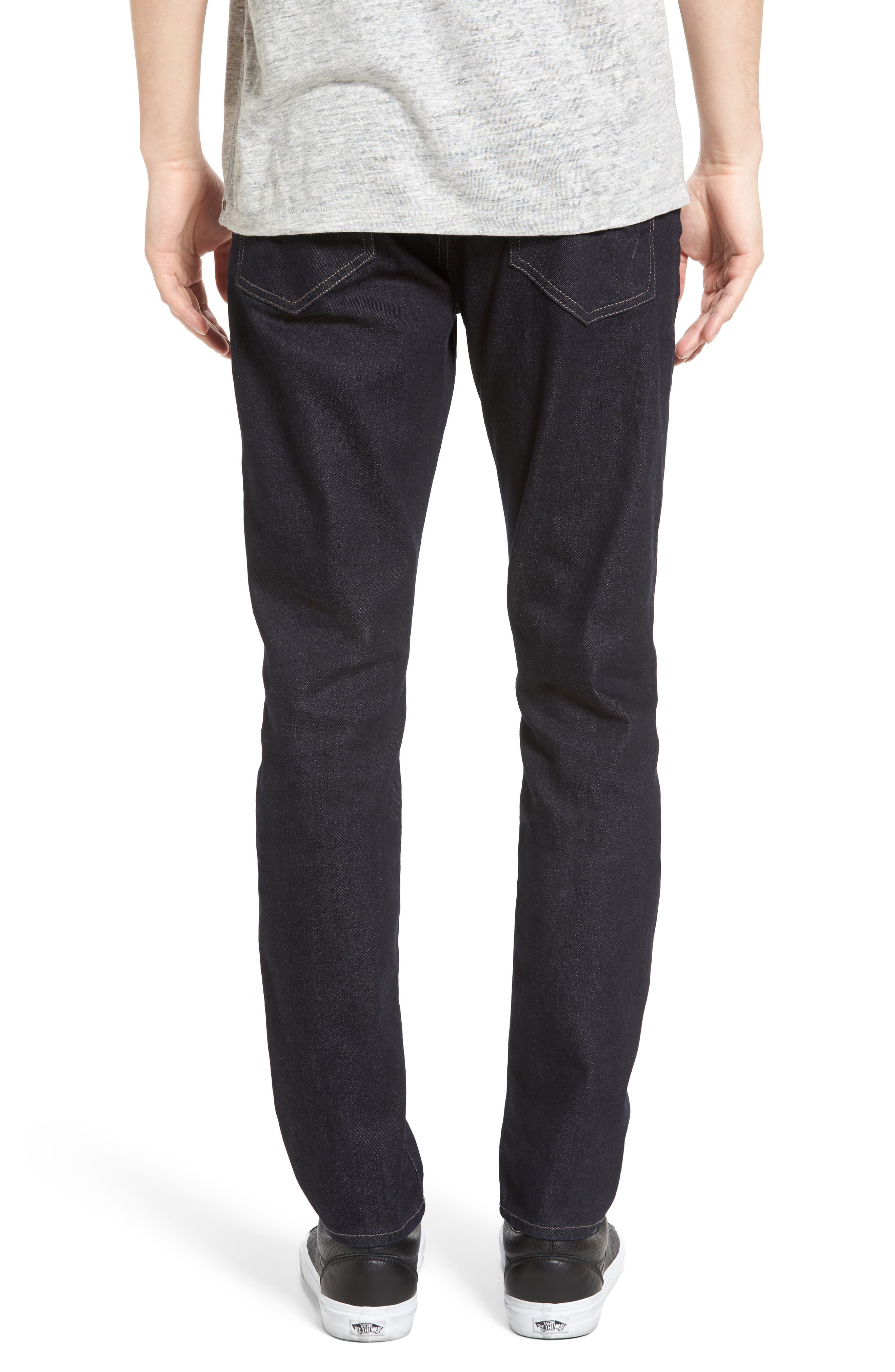 Alternate Image 2  - Mavi Jeans James Skinny Fit Jeans (Midnight Williamsburg)
