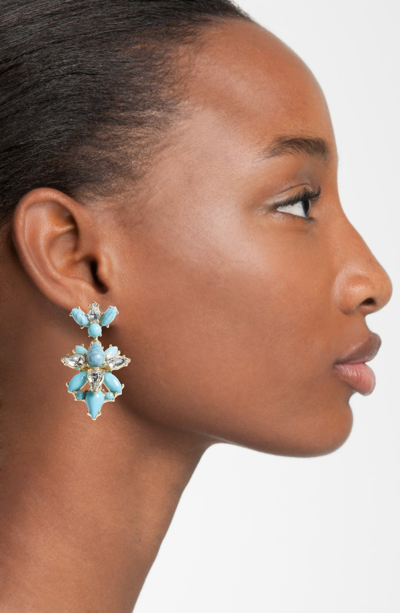 Alternate Image 2  - BaubleBar Bellflower Drop Earrings