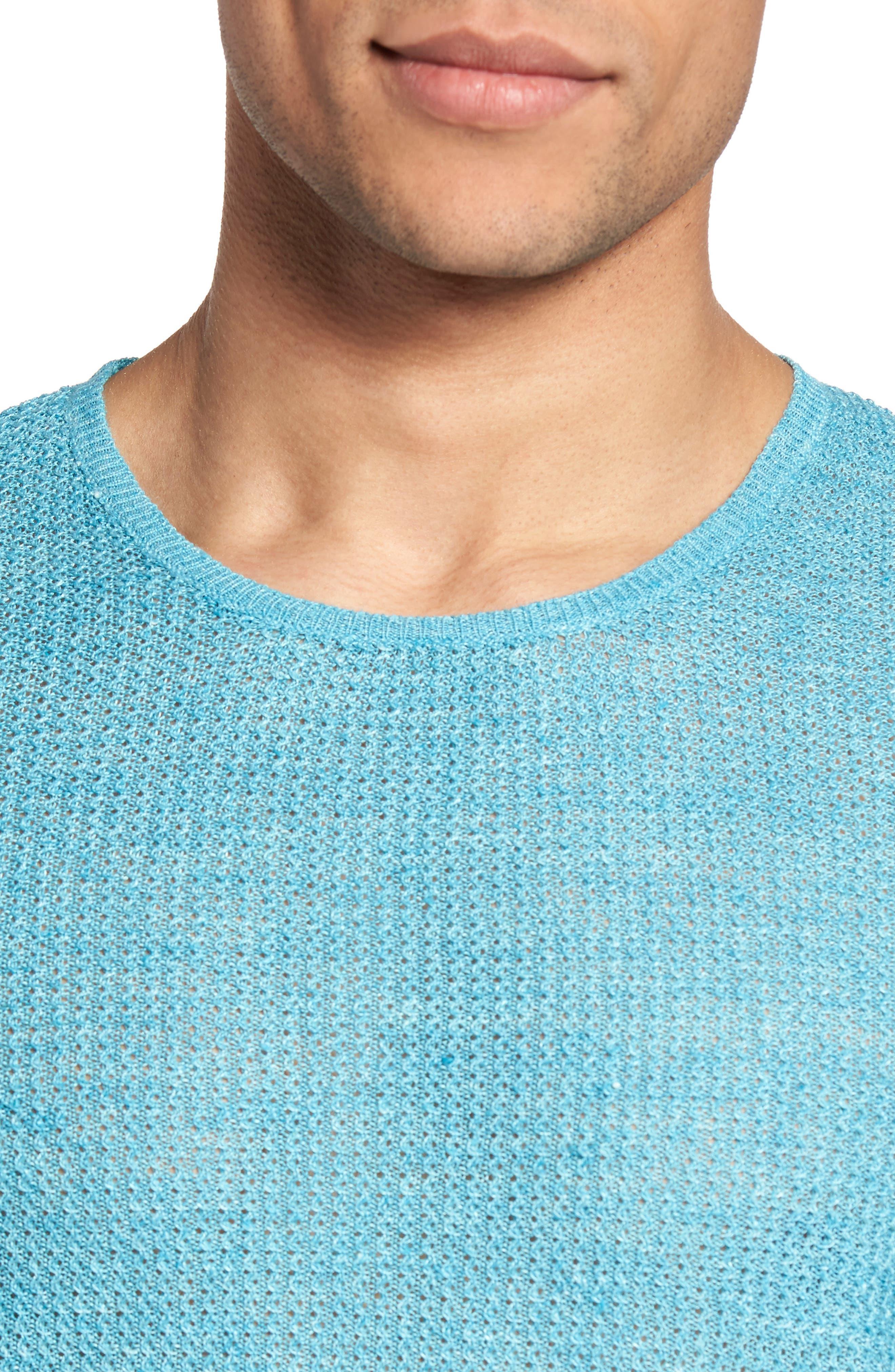 Chapman Linen Sweater,                             Alternate thumbnail 4, color,                             Aqua