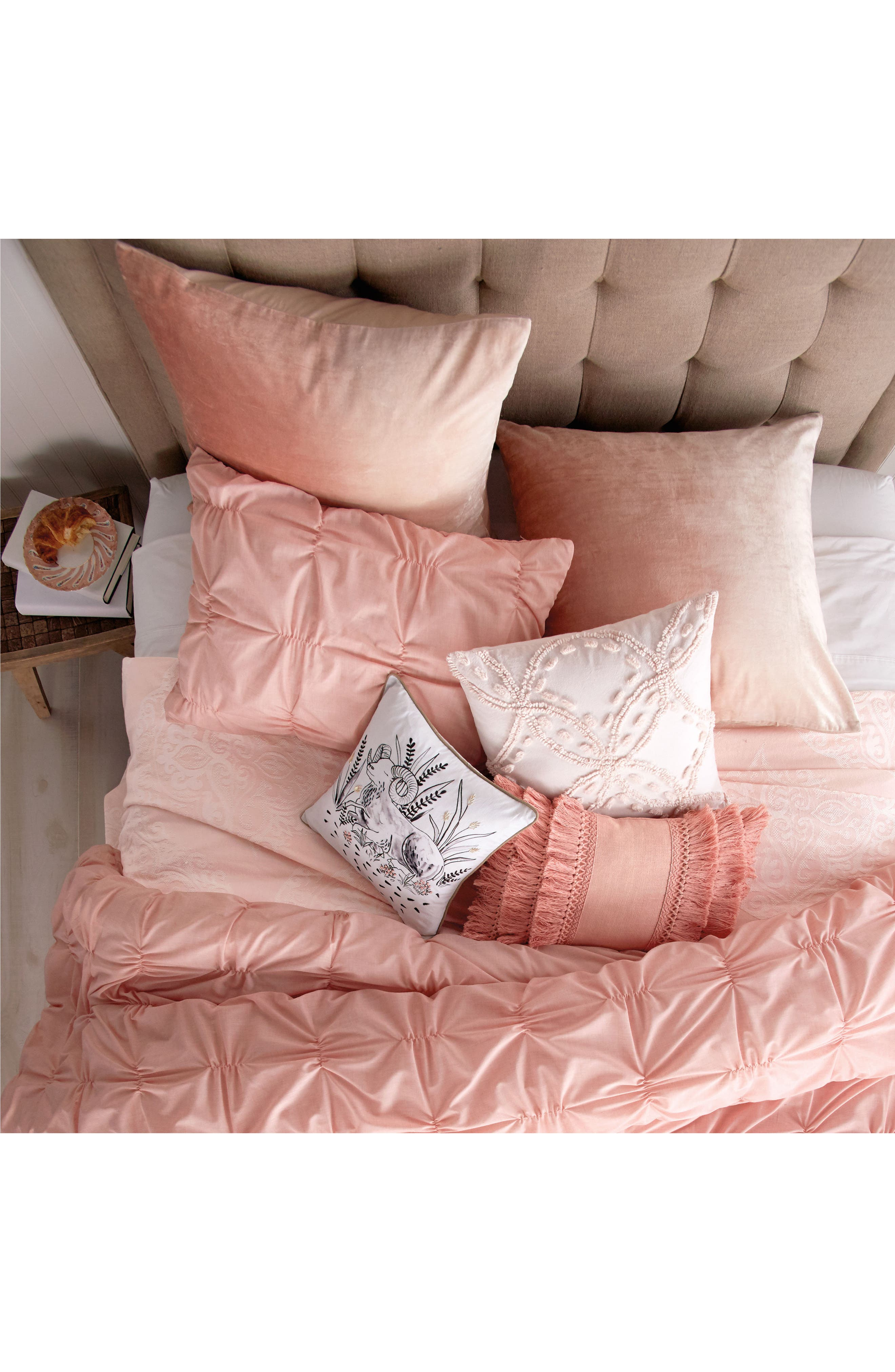 Chenille Pillow,                             Alternate thumbnail 2, color,                             Blush