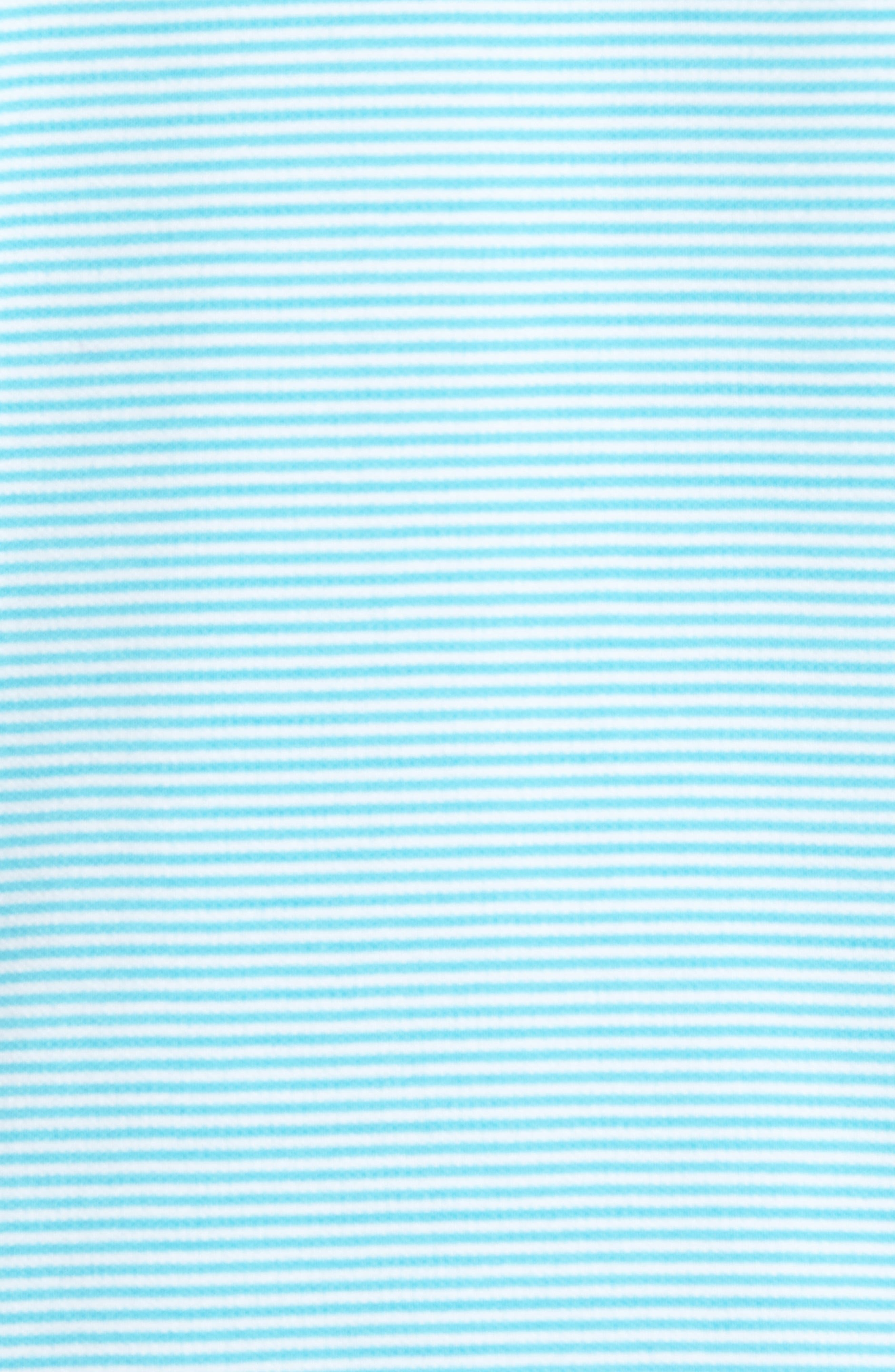 Emfielder Stripe Pima Cotton Blend Polo,                             Alternate thumbnail 5, color,                             Clear Ocean