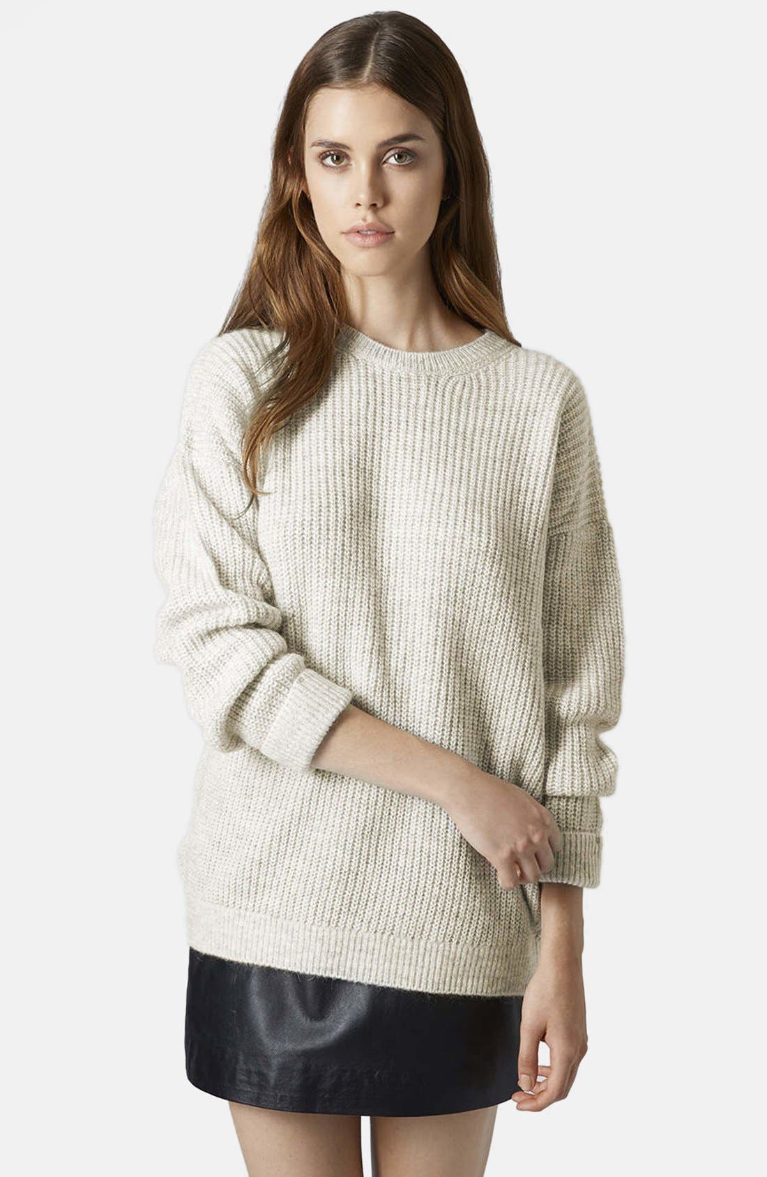 Main Image - Topshop 'Lofty' Ribbed Sweater