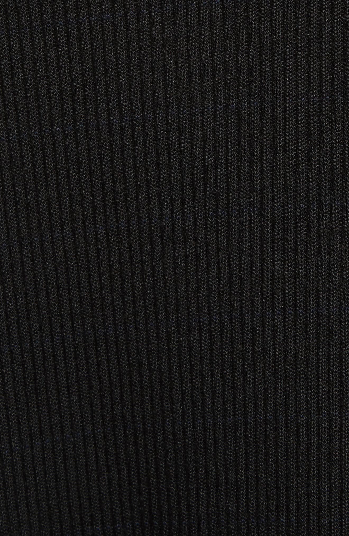 Ribbed Sweater Dress,                             Alternate thumbnail 5, color,                             Black