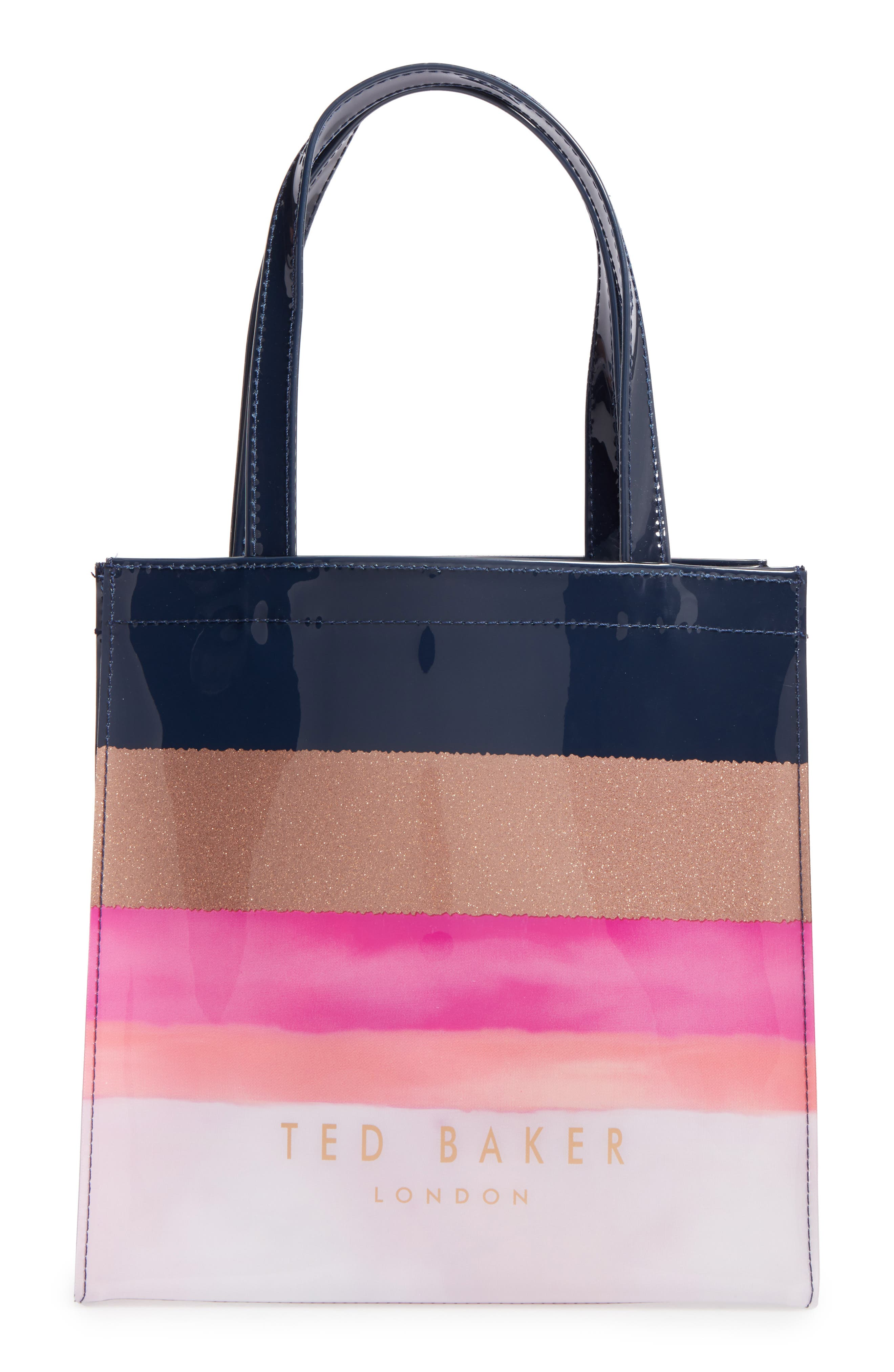Alternate Image 1 Selected - Ted Baker London Marina Mosaic Stripe Small Icon Tote