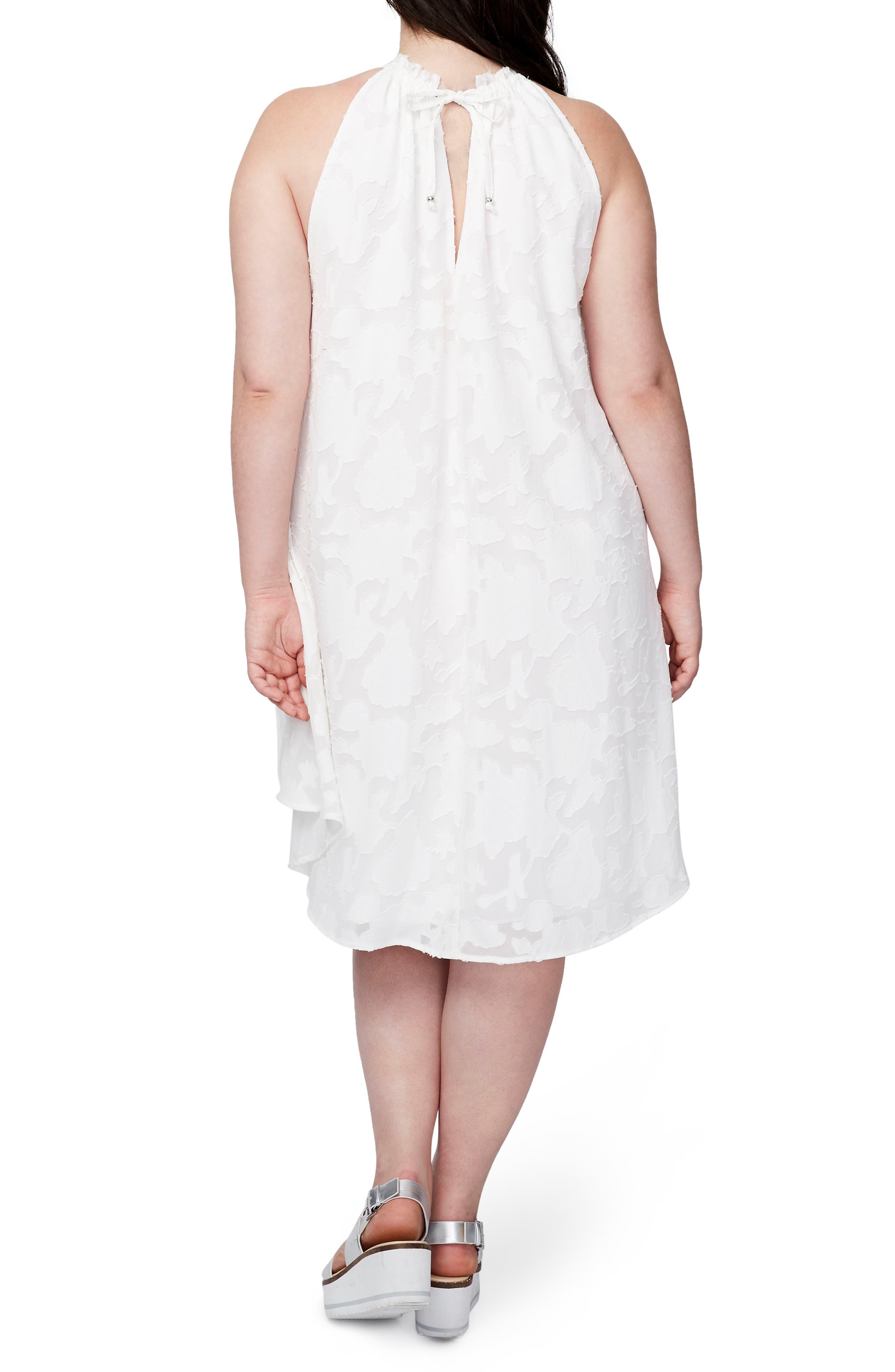 Jacqueline Burnout Swing Dress,                             Alternate thumbnail 2, color,                             White