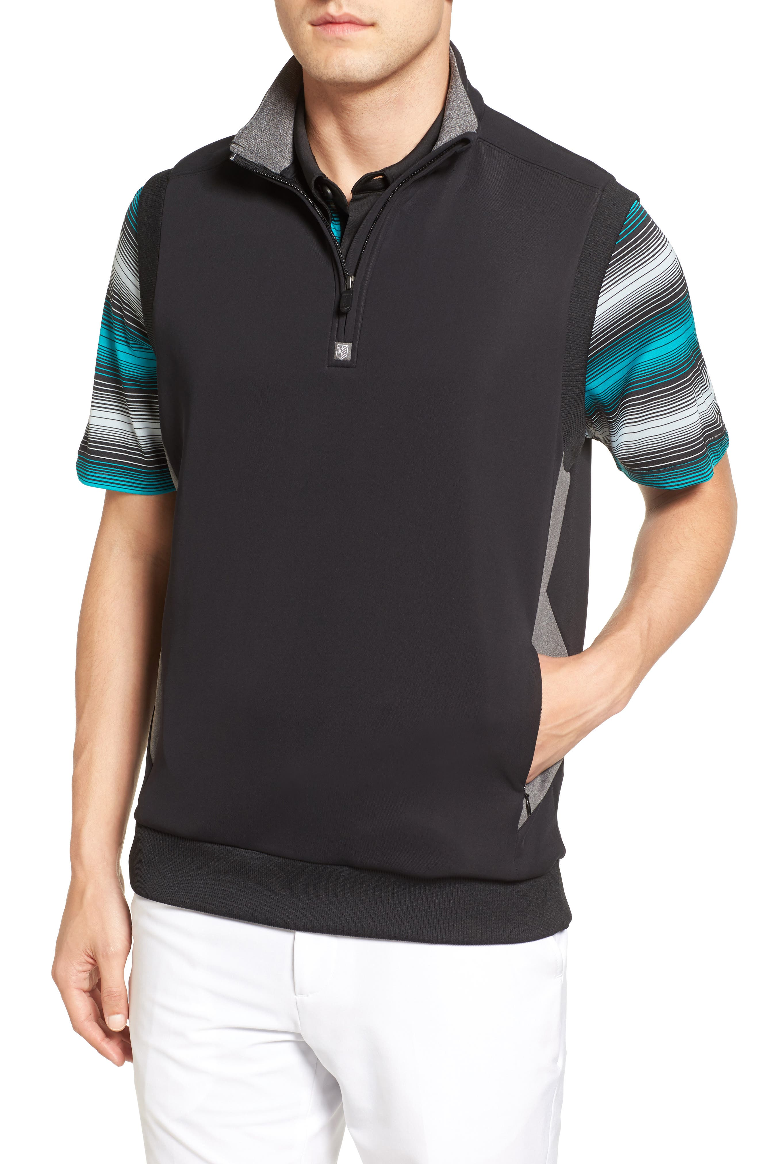 Main Image - Bobby Jones Rule 18 Tech Quarter Zip Vest