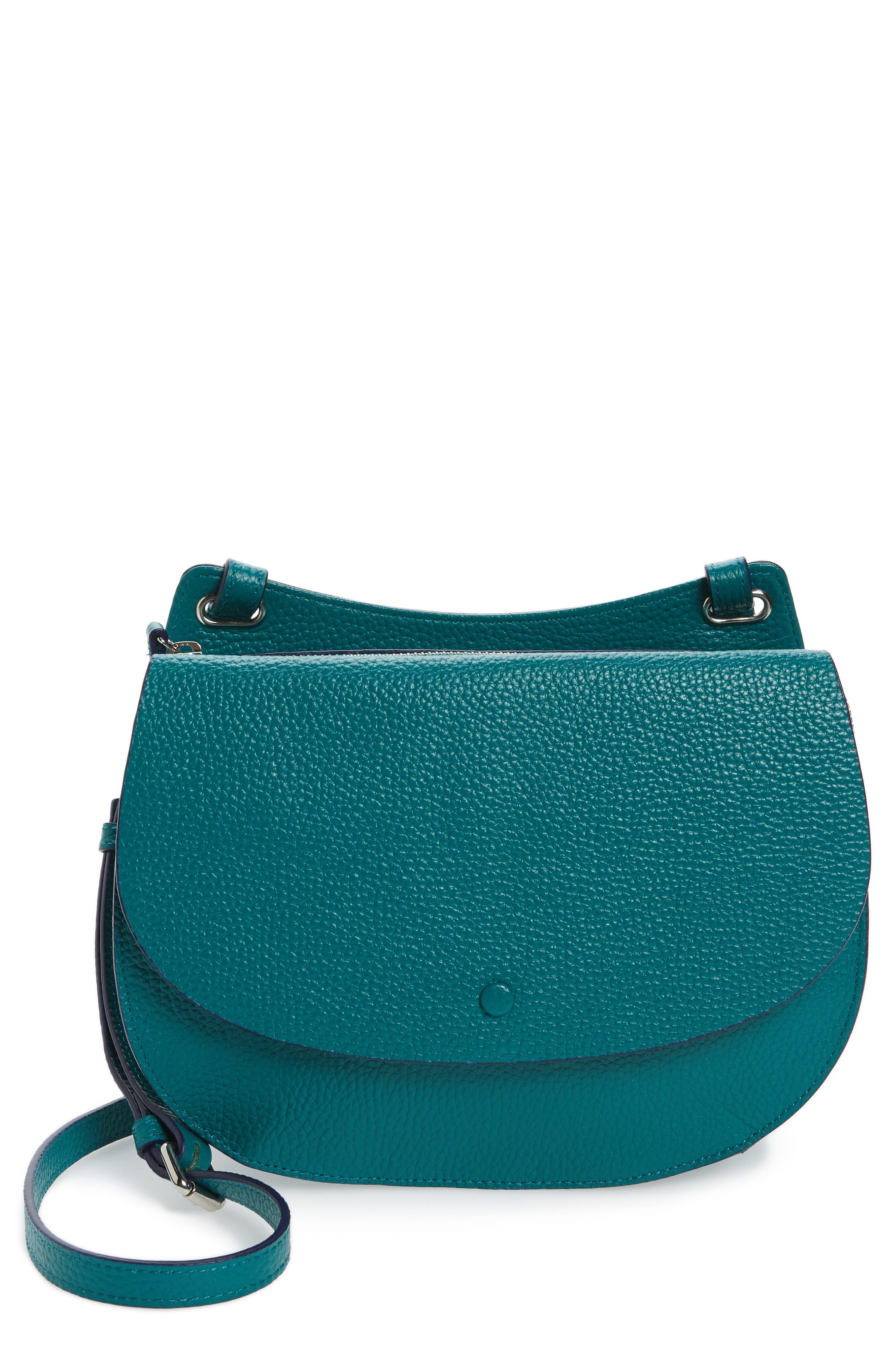 Main Image - Halogen® Leather Saddle Bag