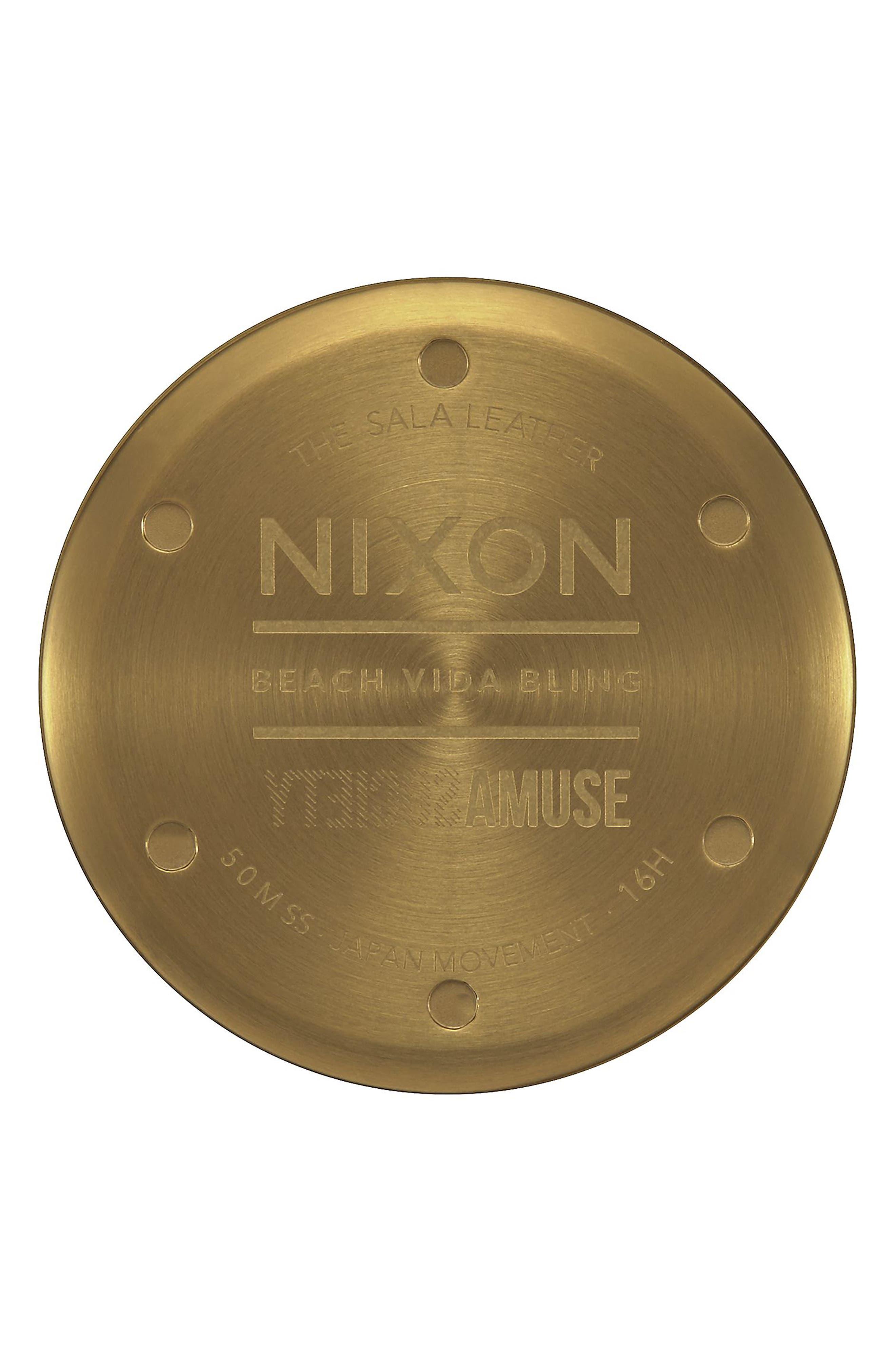 Alternate Image 4  - Nixon Sala Leather Strap Watch, 38mm